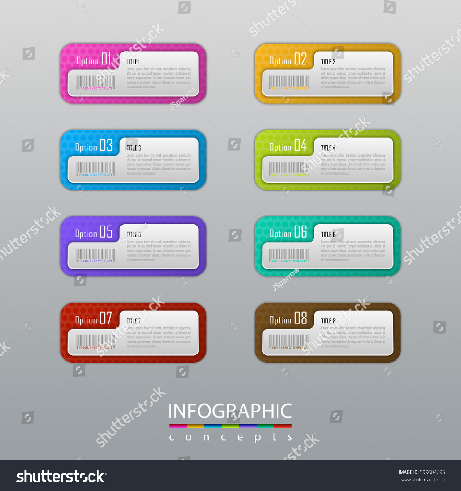 Business Infographic 4 Steps Timeline Template Stock Vector