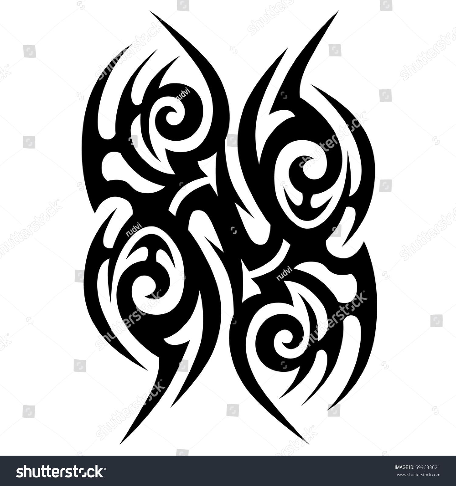Vector Tribal Tattoo Designs Tribal Tattoos Stock Vector