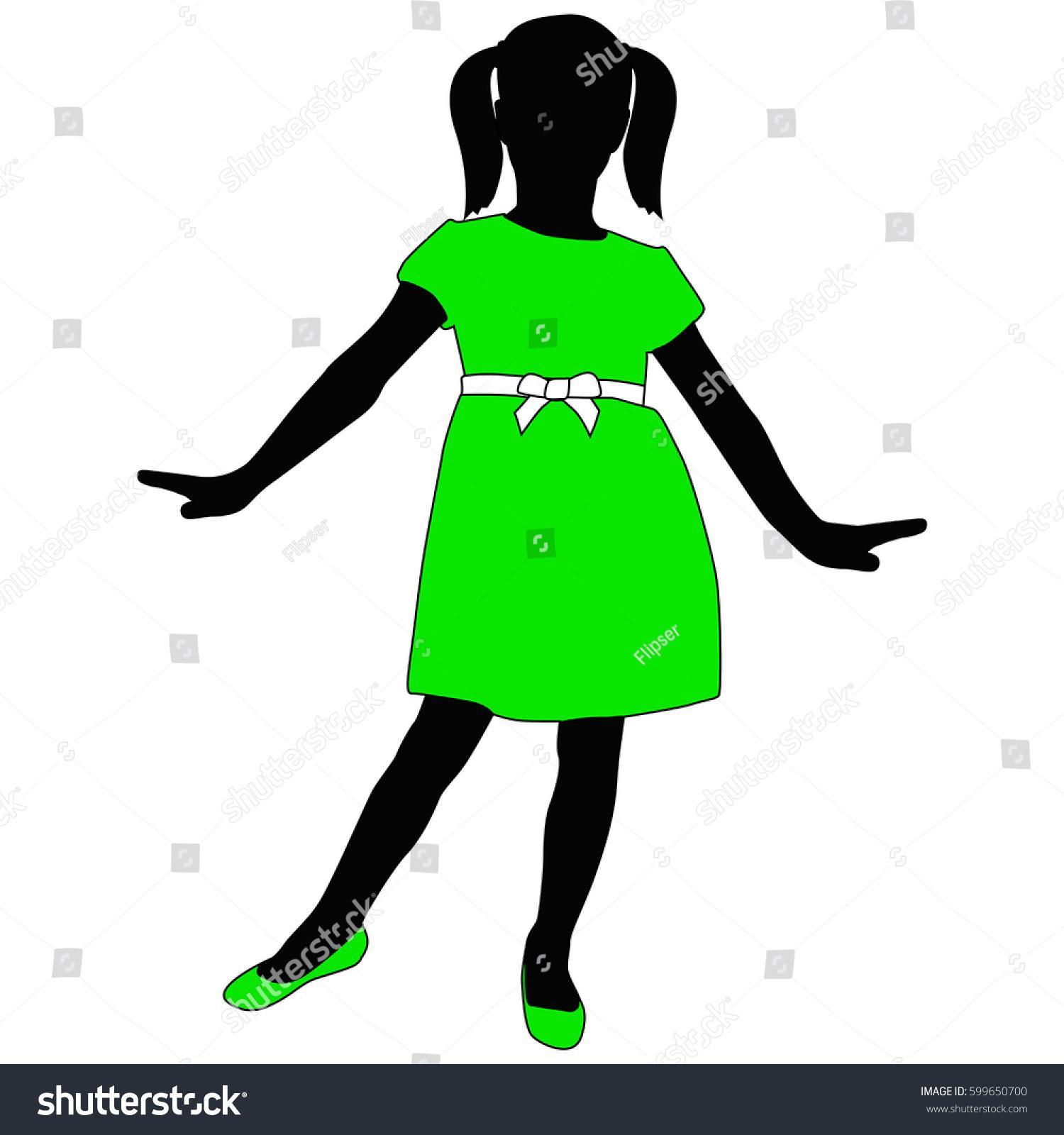 Toddler Girl Silhouette