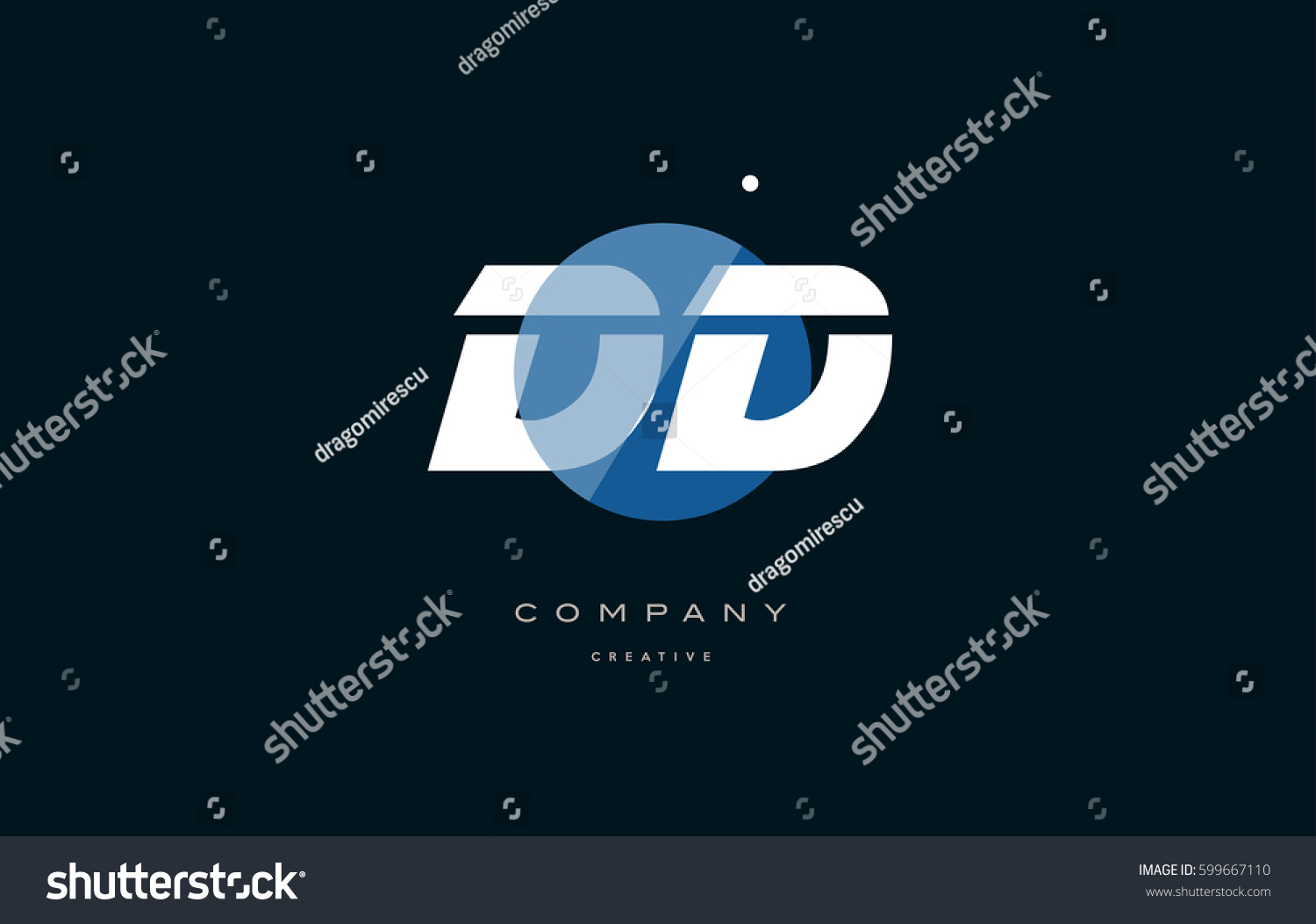 Dd D D Blue Circle Dot Stock Vector 599667110 - Shutterstock