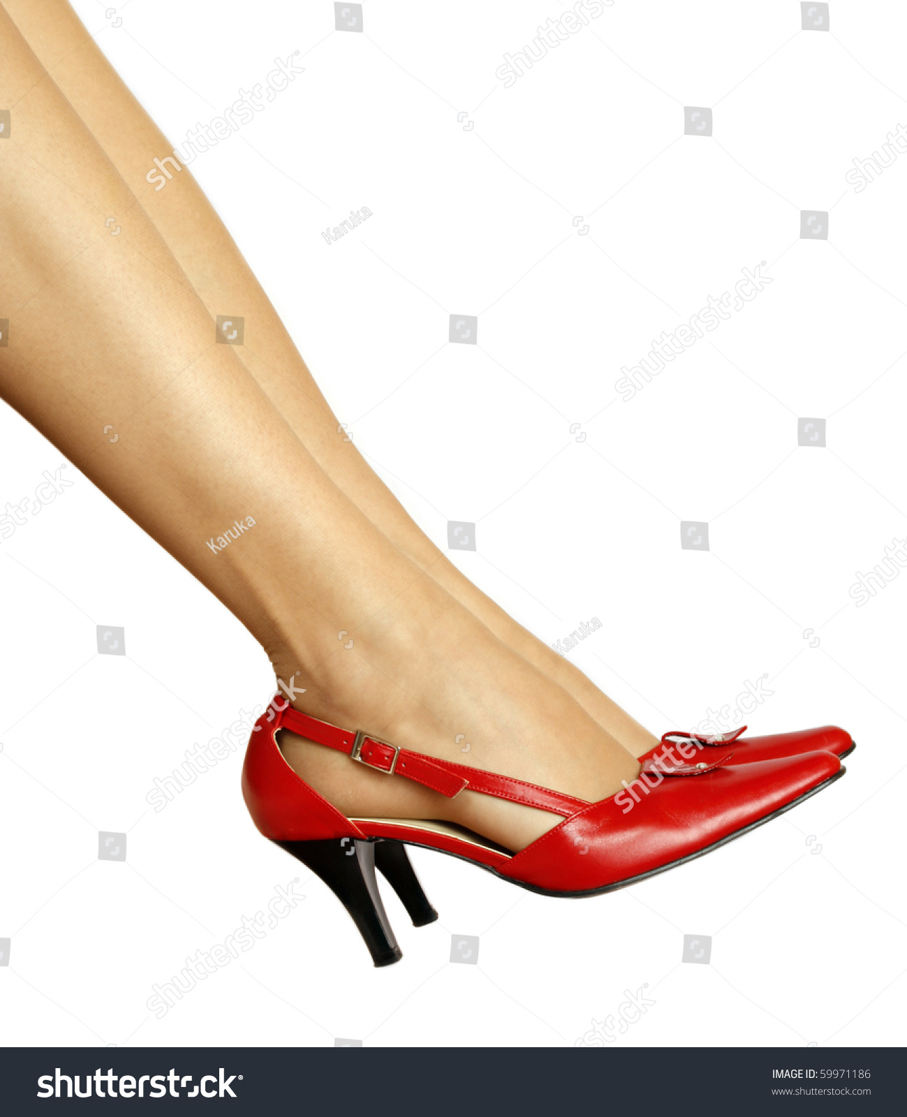 Slim Legs And Red Shoes Stock Photo 59971186 : Shutterstock