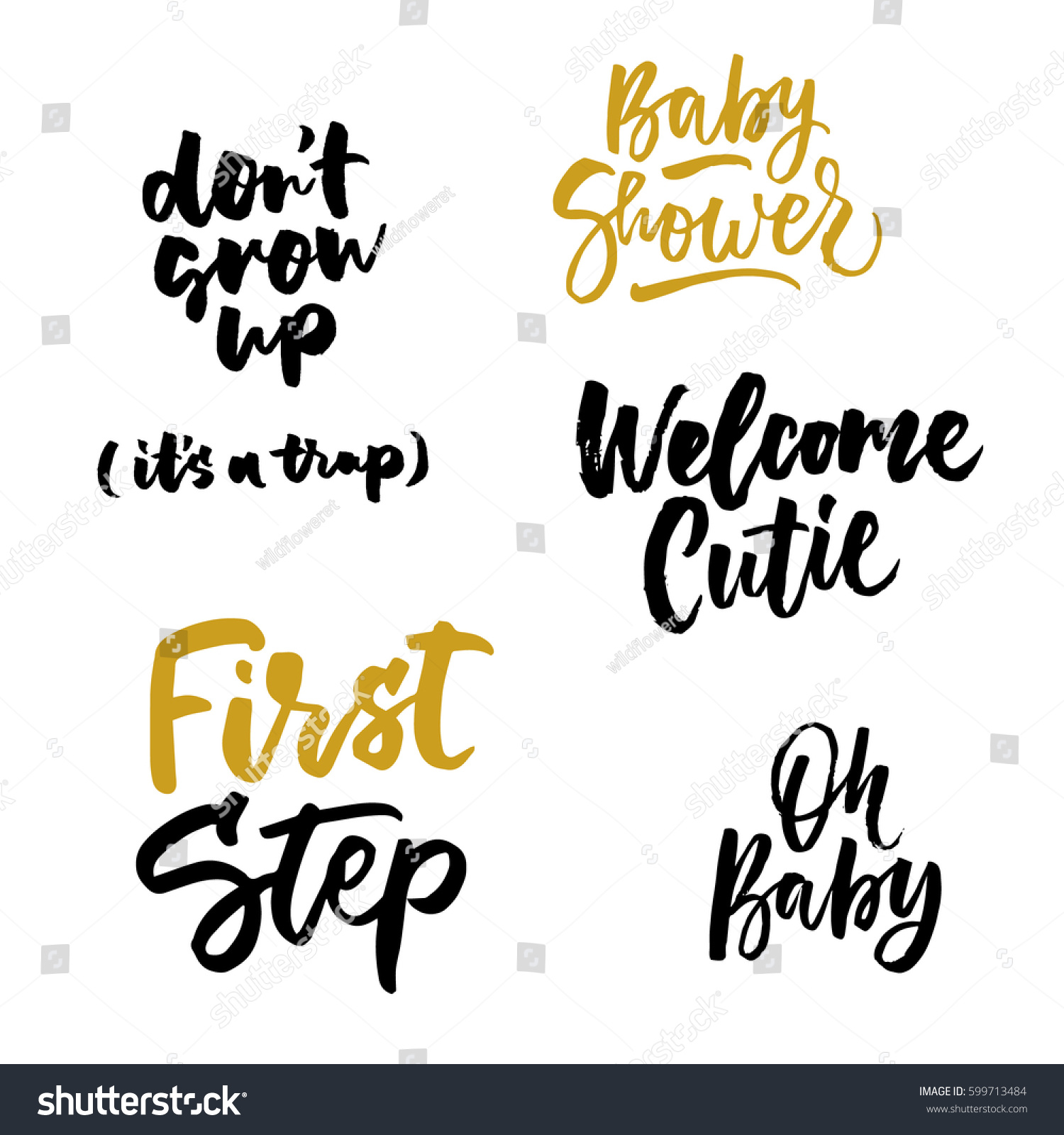 Grow Up Quotes Dont Grow Up Trap Oh Baby Stock Vector 599713484  Shutterstock