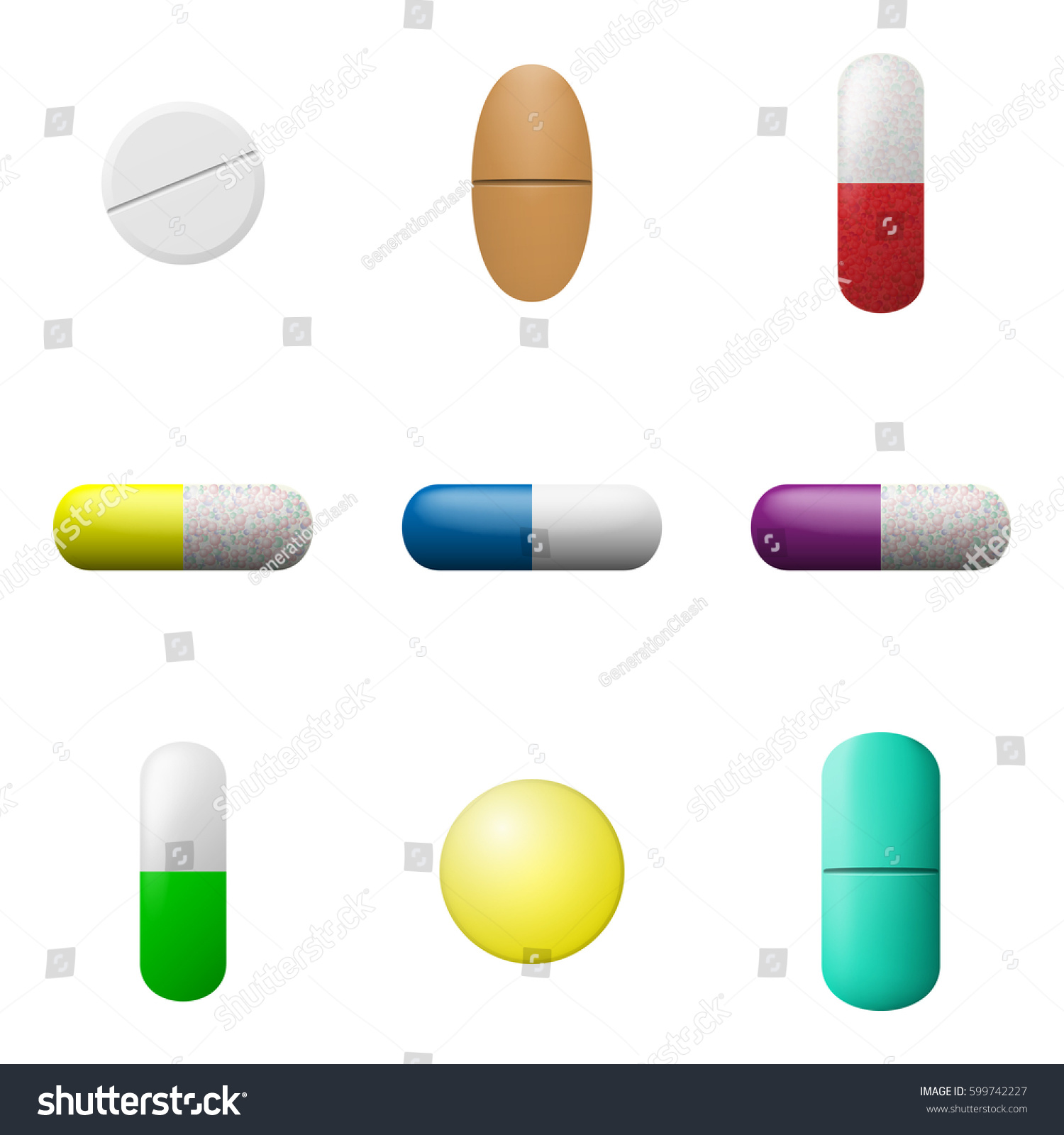 vector pills capsules set pharmacy drugs stock vector hd royalty rh shutterstock com vector pills reviews vector pillsbury dough boy