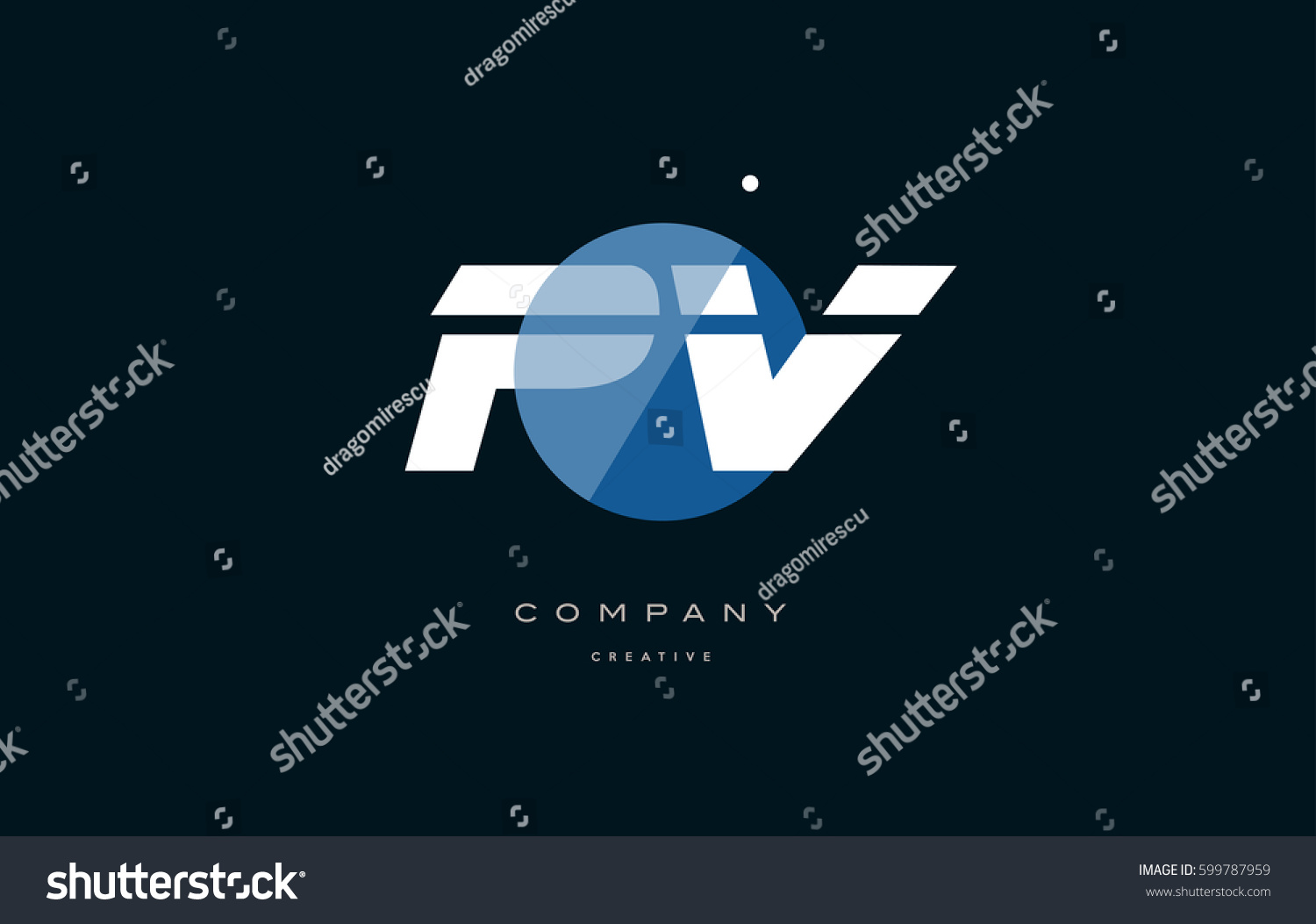 Pv p v blue circle dot stock vector 599787959 shutterstock pv p v blue circle dot big font alphabet company letter logo white design vector icon template buycottarizona Image collections