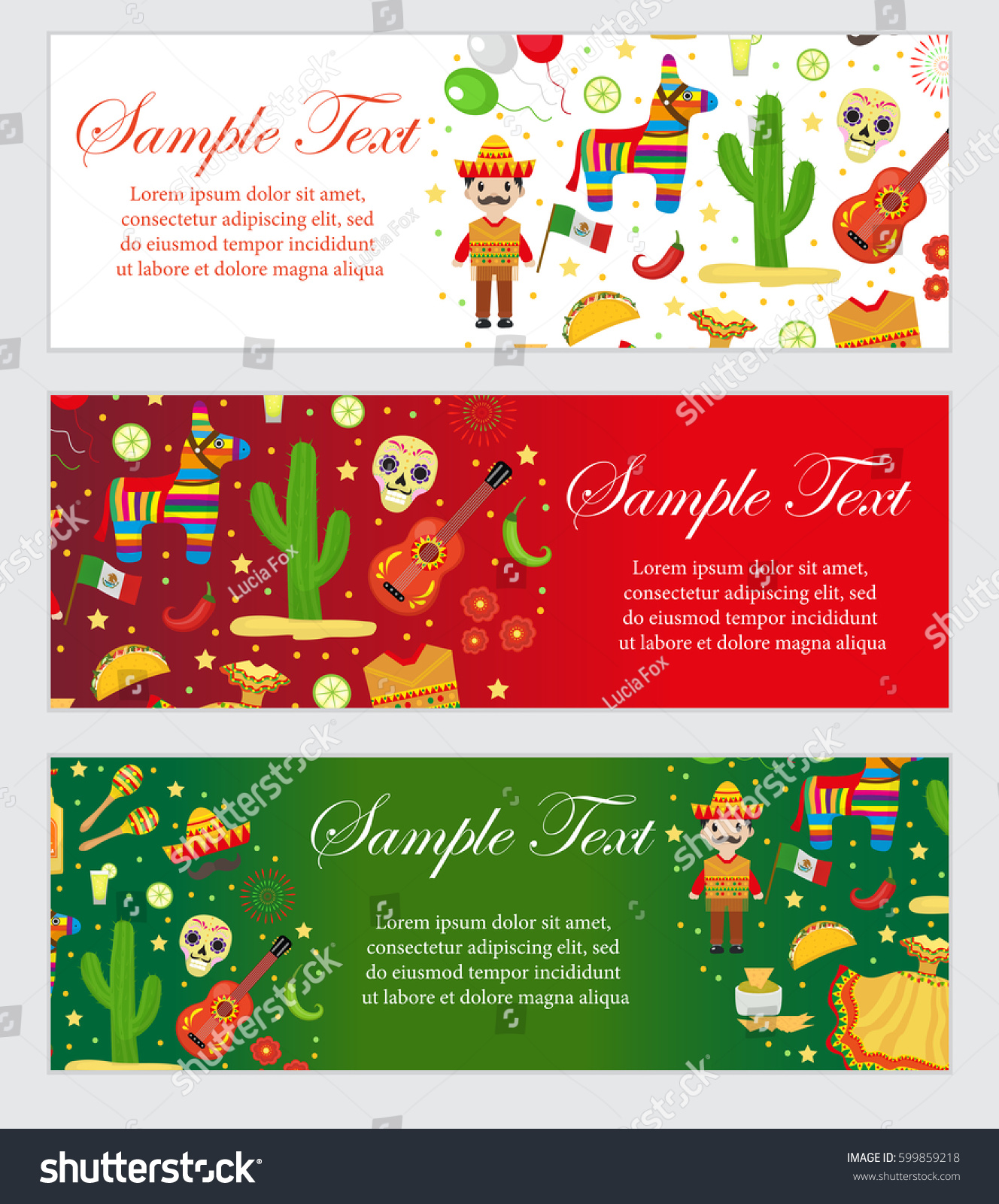 Cinco De Mayo Celebration Mexico Banner Stock Vector Royalty Free