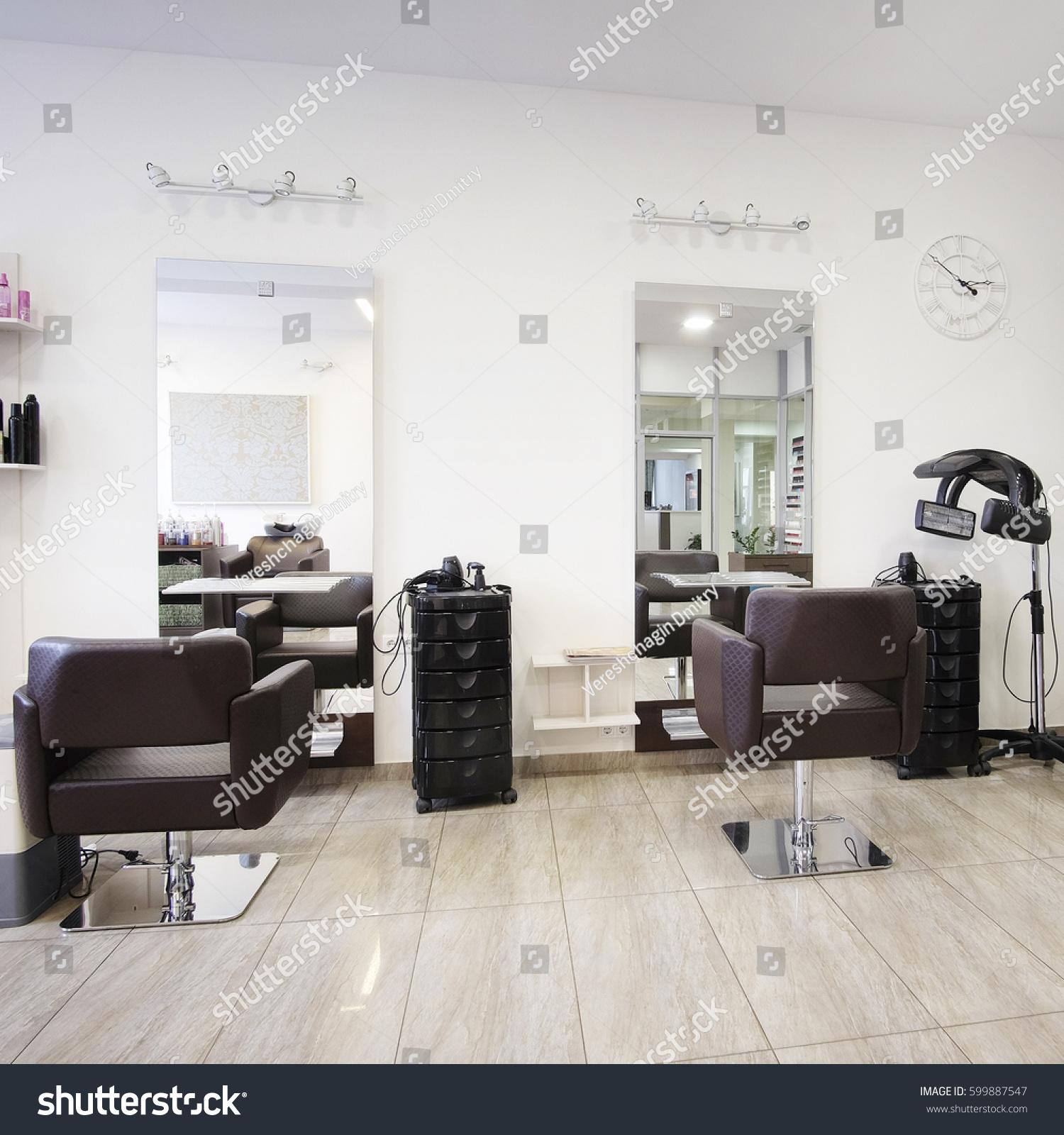 stock-photo-interior-of-a-modern-beauty-salon-599887547 Luxe De Salon De Jardin En Palette Moderne Des Idées