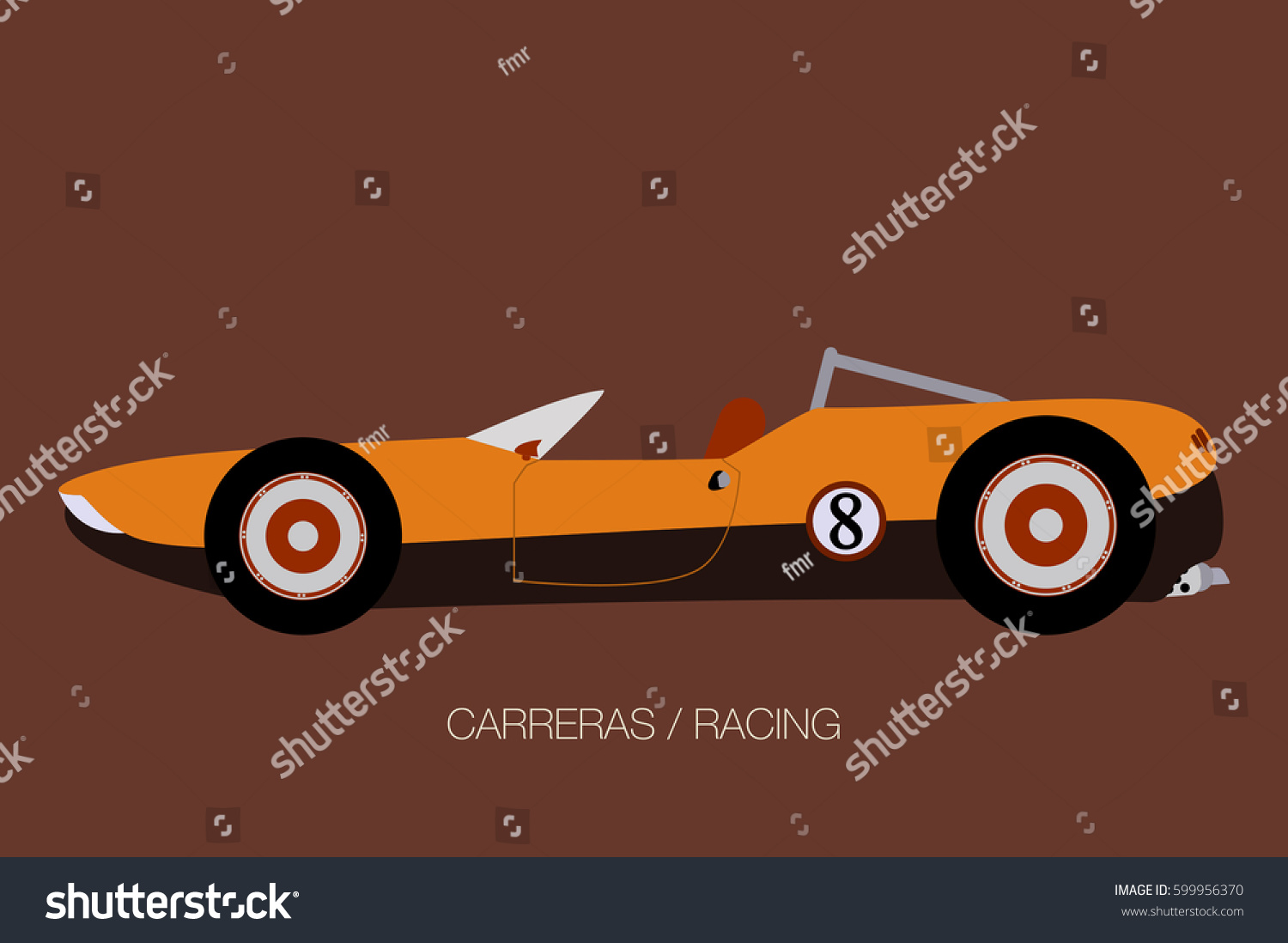 Old Race Car Icon Illustration Vector Stock Vector 599956370 ...