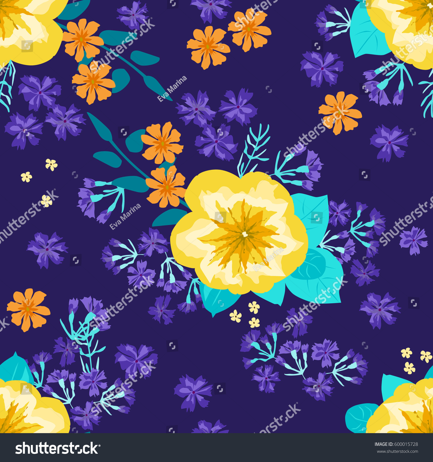 Seamless Gorgeous Pattern Smallscale Cute Yellow Stock Vector 2018