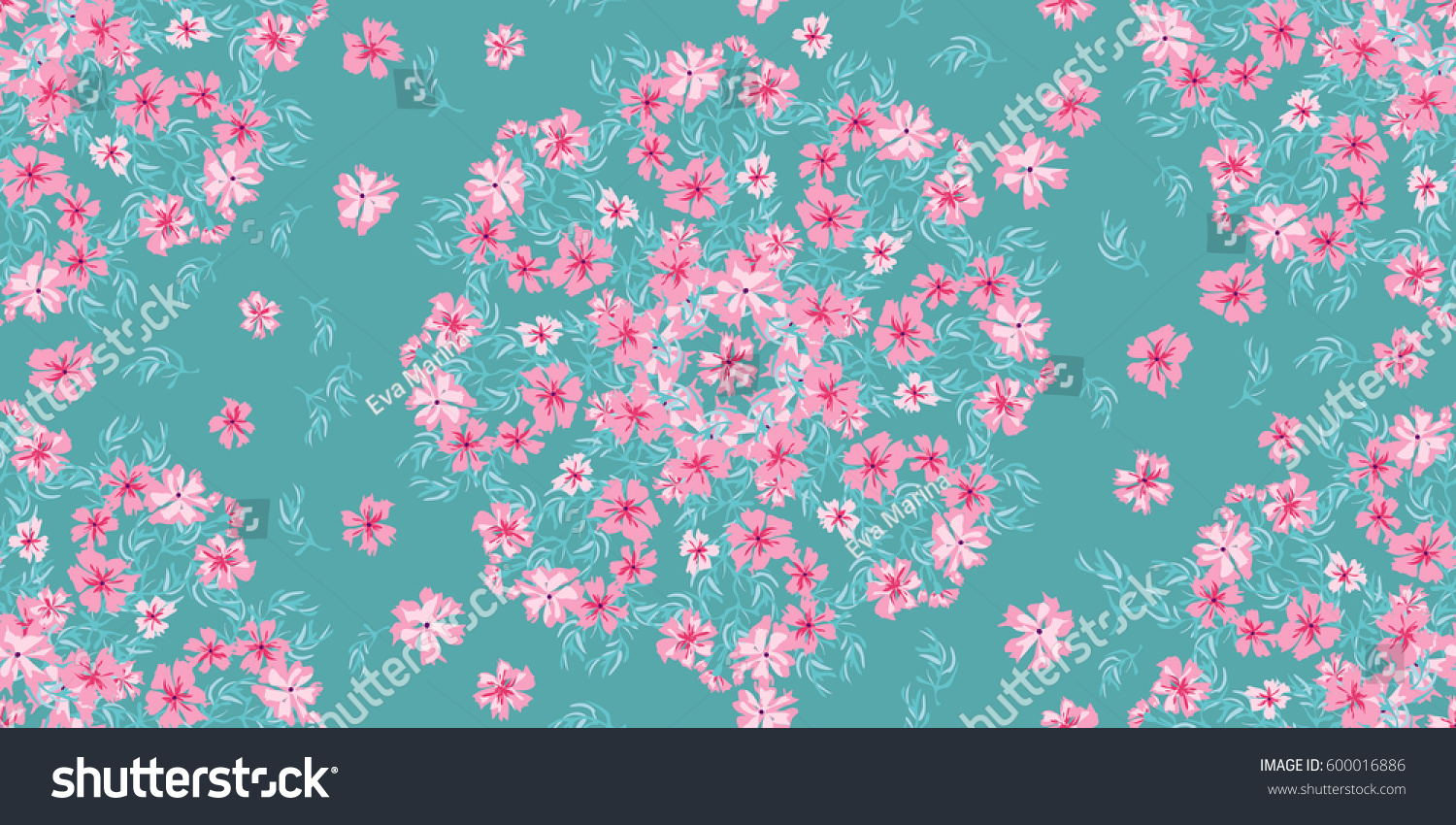Simple Cute Pattern In Small Scale Flowers Of Maiden Pink Pretty