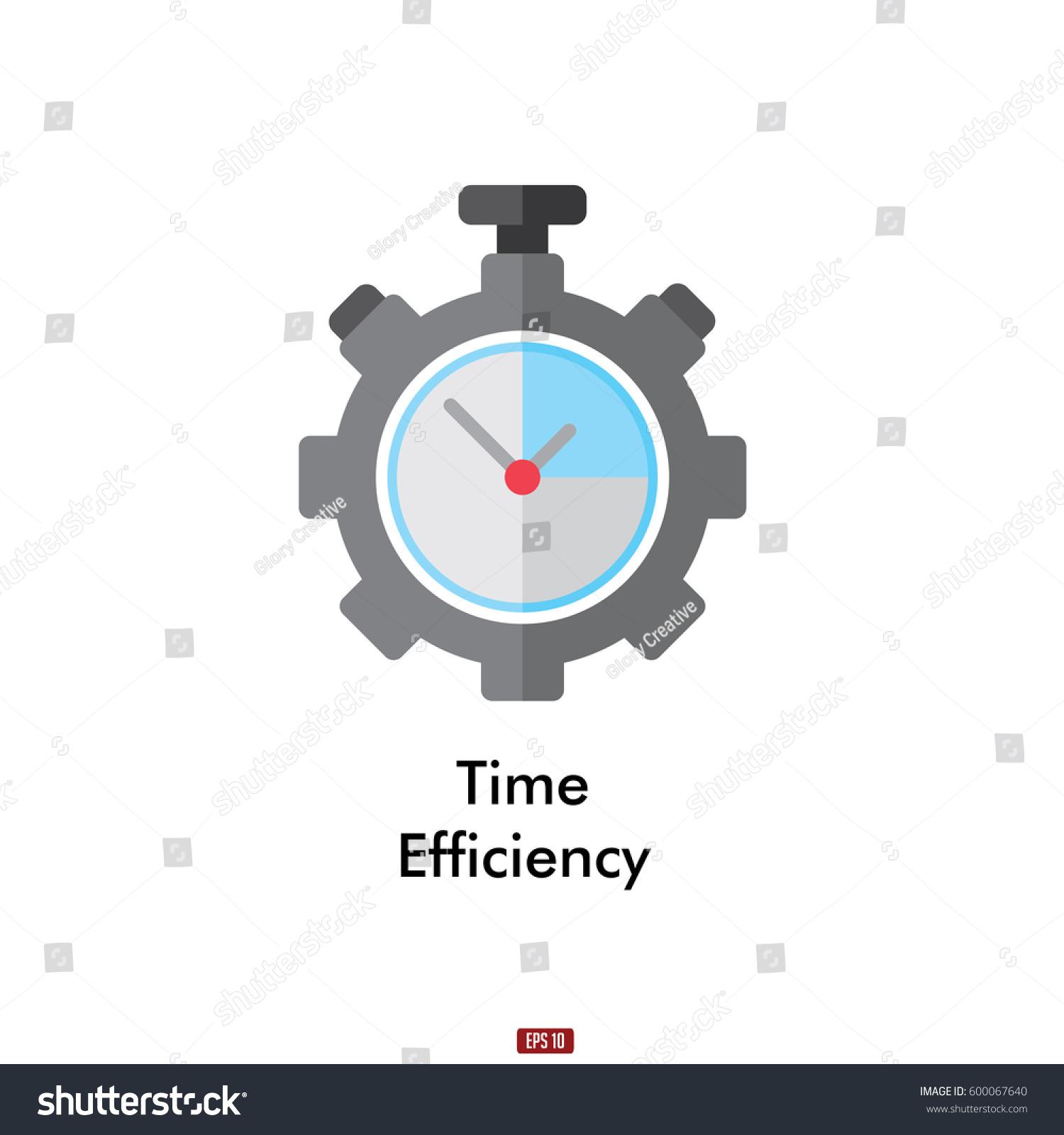 Time Efficiency Vector Icon Stock Vector 600067640 ...
