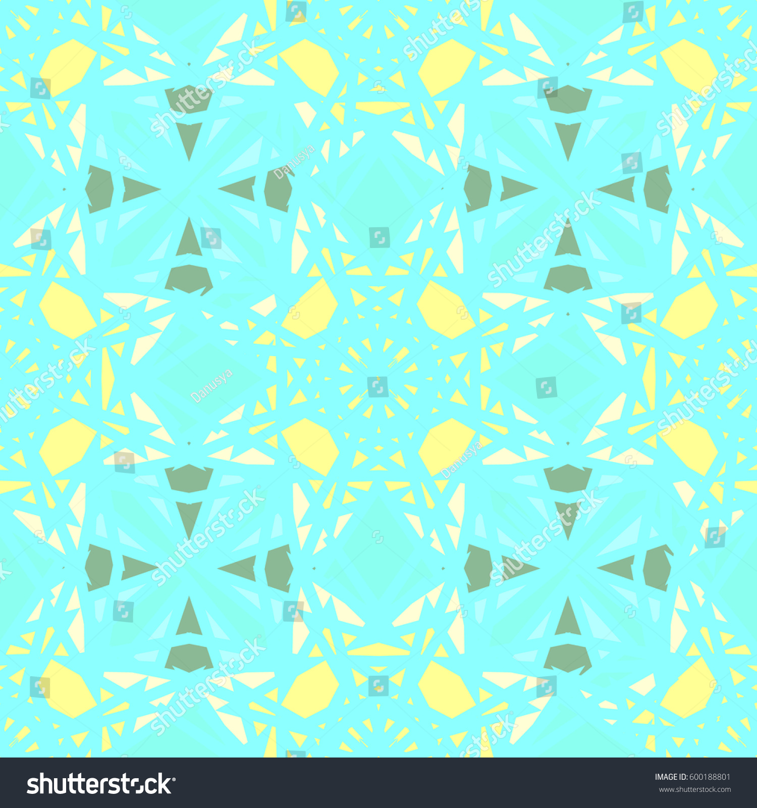 Abstract geometric colorful seamless pattern for background. Decorative backdrop can be used for wallpaper, pattern fills, web page background, surface textures. Old vintage retro energy pattern. #600188801