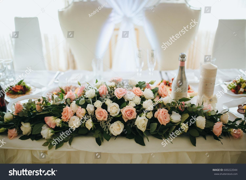 Festive Decoration Tables Wedding Stock Photo 600222044 - Shutterstock