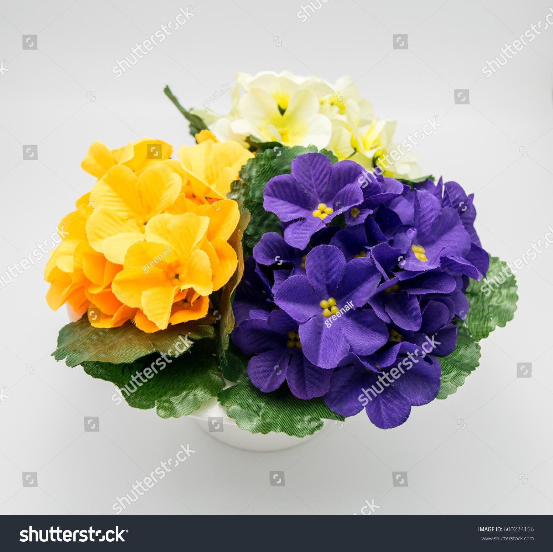 Artificial Flower Arrangement Purple Orange Yellow Stock Photo Edit