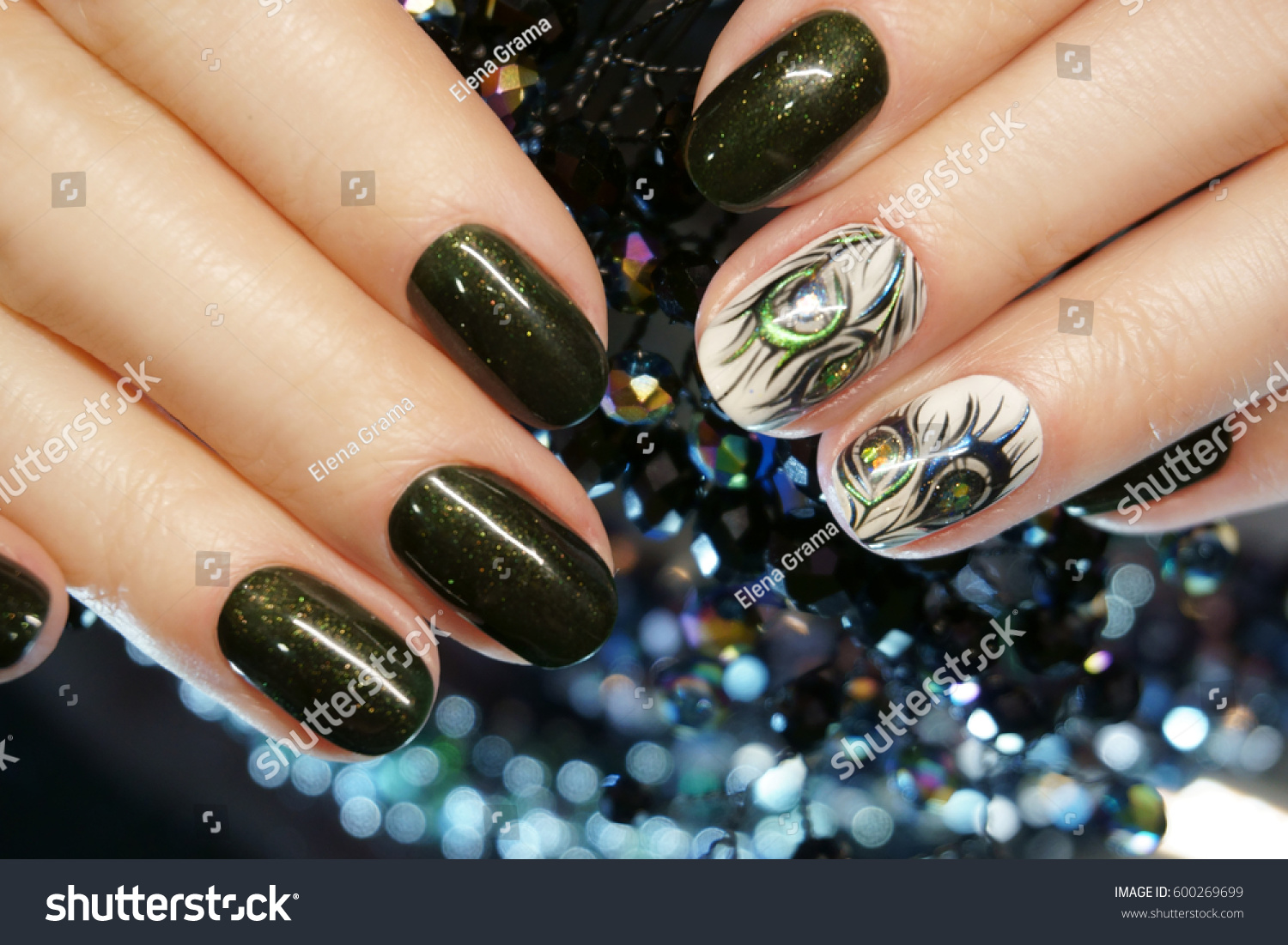 Beautiful nail art manicure nail designs stock photo 600269699 beautiful nail art manicure nail designs with decorationnicure nail paint nail care prinsesfo Image collections