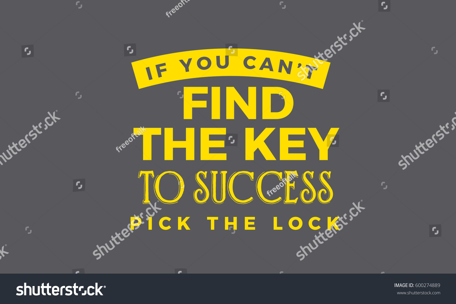 you cant key success pick stock vector shutterstock if you can t the key to success pick the lock motivation