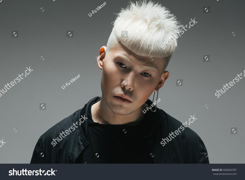 Asian guy on blonde