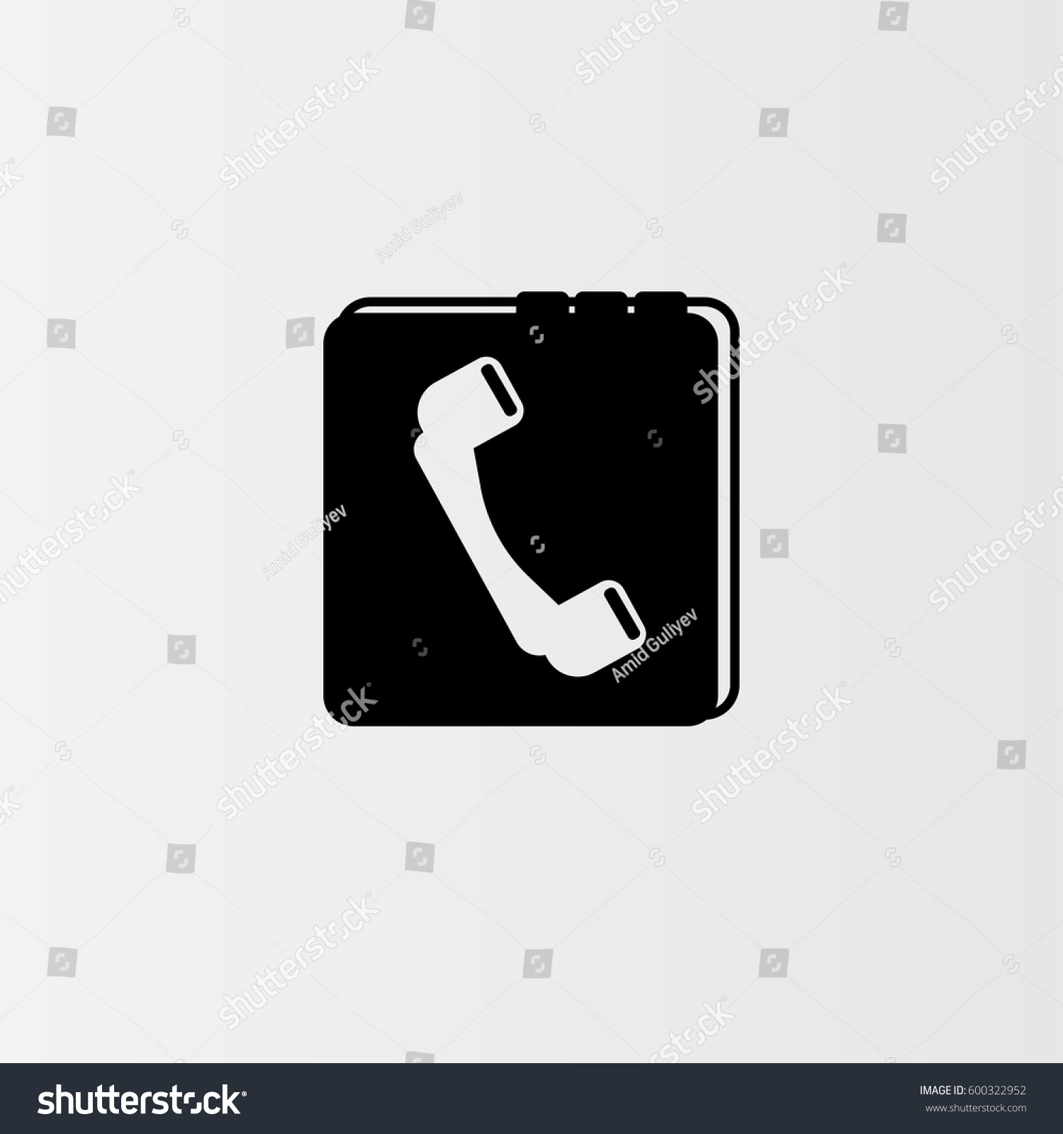 Phone book vector icon symbol telephone stock vector 600322952 phone book vector icon the symbol of telephone numbers book simple modern flat biocorpaavc Gallery