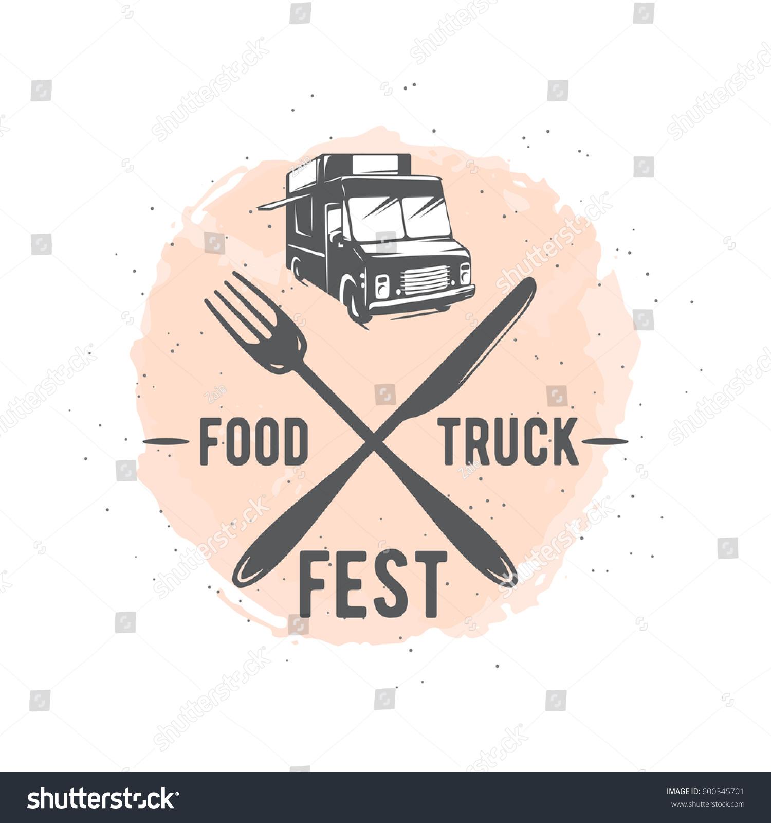Vector Illustration Street Food Truck Graphic Stock Vector