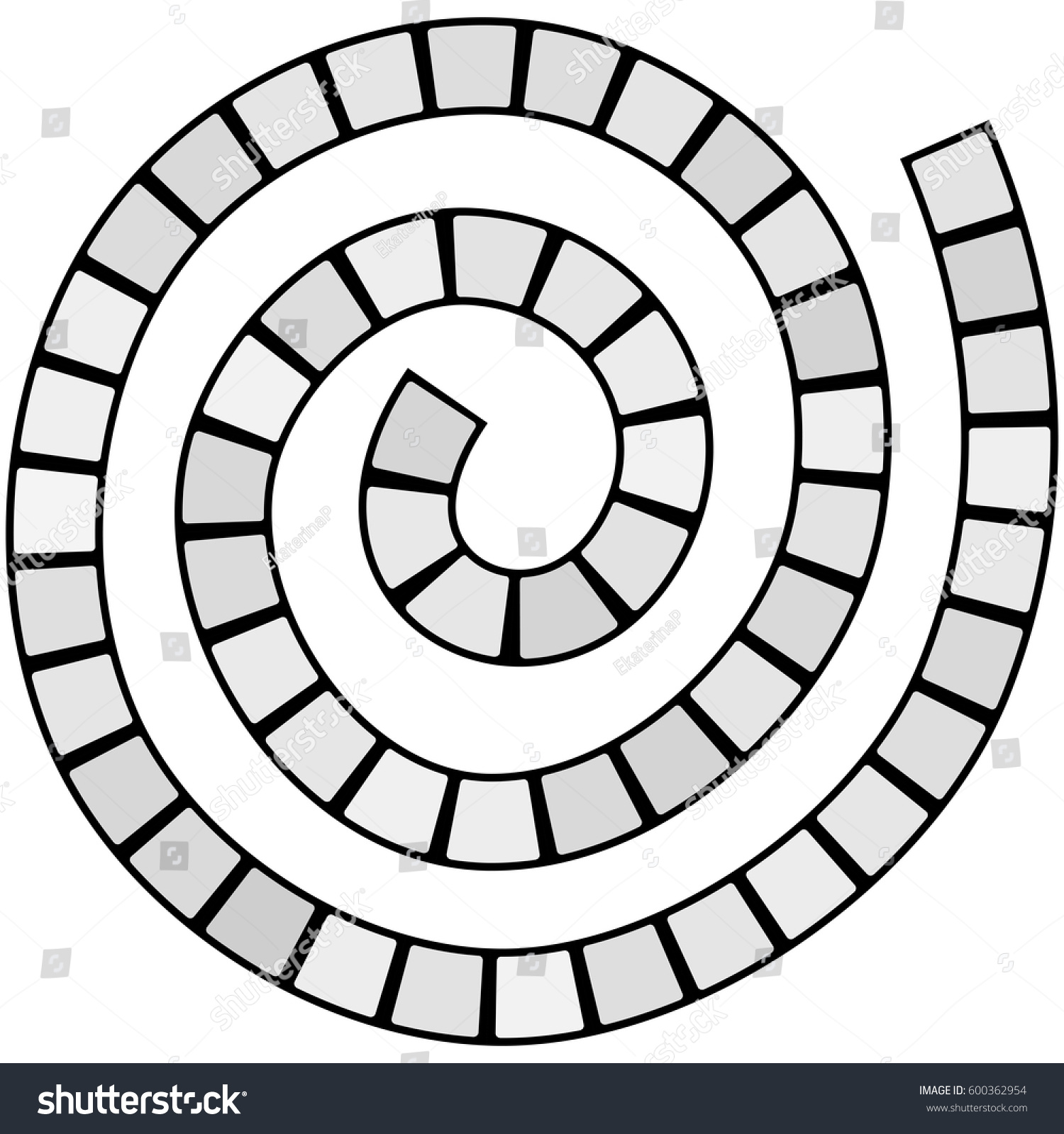 stock vector abstract futuristic spiral maze pattern template for children s games grey squares black contour 600362954 abstract futuristic spiral maze pattern template stock vector on spiral pattern template
