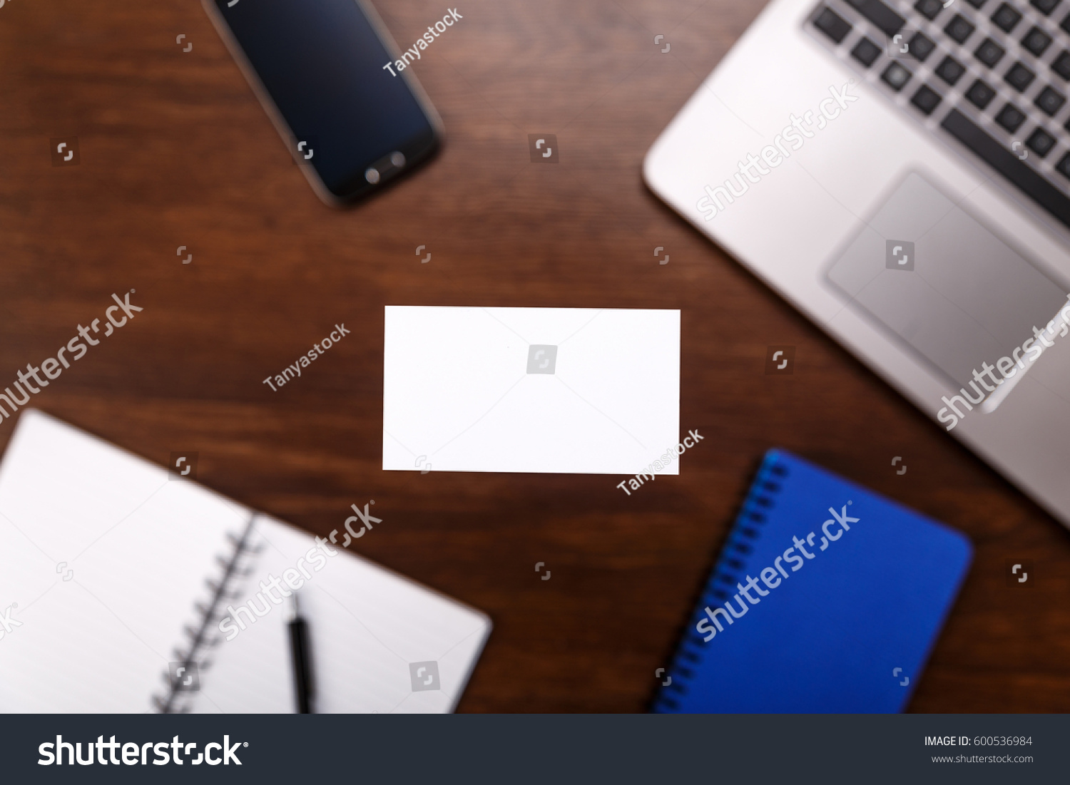 Blank Business Card Design Mockup Visiting Stock Photo (Edit Now ...