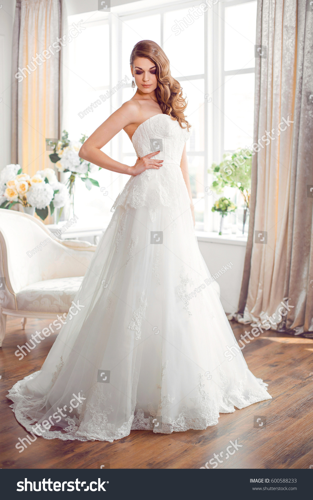 Wedding Fashion Bride Perfect Wedding White Stock Photo (Royalty ...