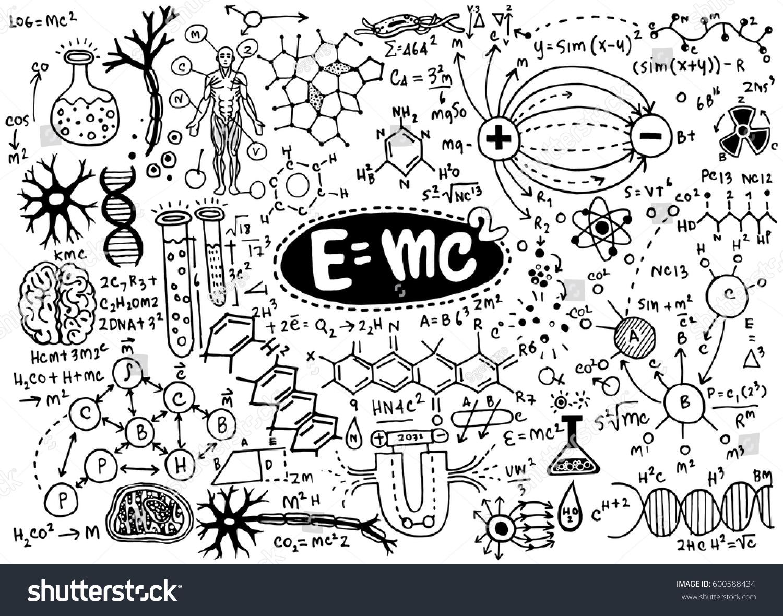 Vector Illustration Scientific Formulas Calculations Physics Stock ...
