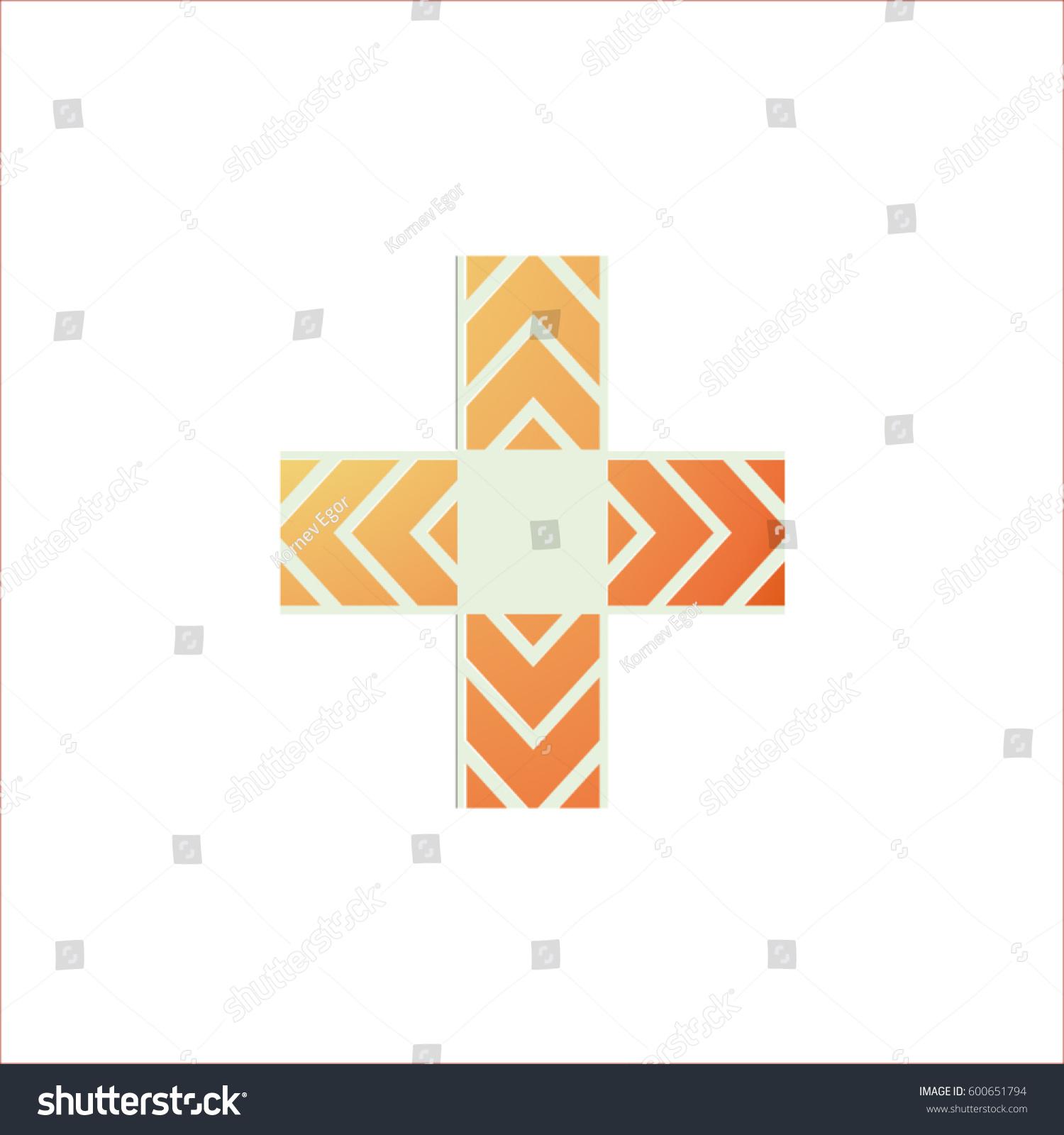 Redorange cross wavy lines empty square stock vector 600651794 red orange cross with wavy lines and an empty square in the center of the buycottarizona Gallery