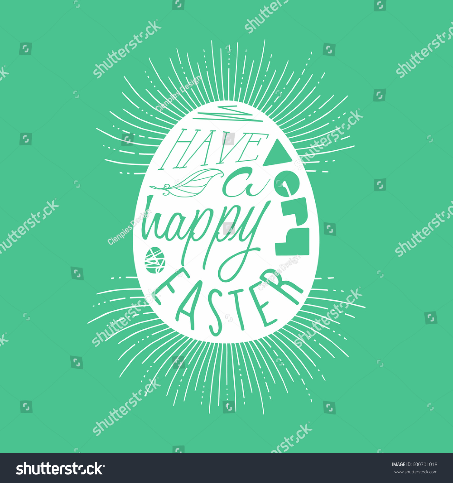 Happy Easter Greeting Card Design Spring Stock Vector Royalty Free