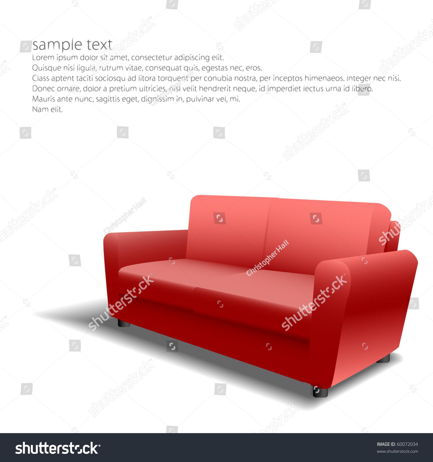 Red Sofa Design Eps10 Stock Vector Shutterstock