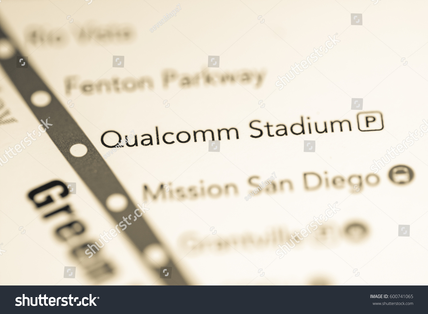 San Diego Subway Map.Qualcomm Stadium Station San Diego Metro Stock Photo Edit Now