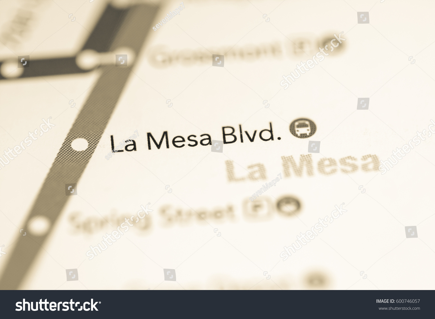 San Diego Subway Map.La Mesa Blvd Station San Diego Stock Photo Edit Now 600746057