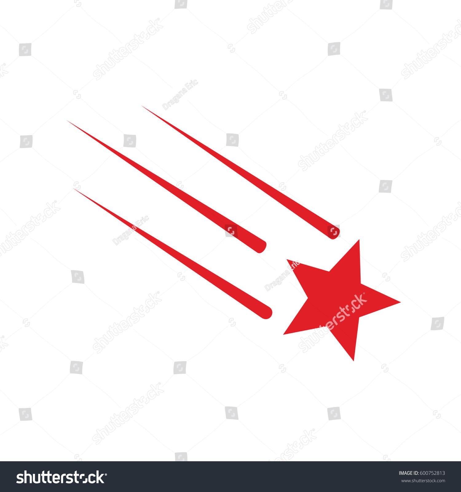 Shooting Star Falling Stars Vector Stock Vector 600752813 Shutterstock