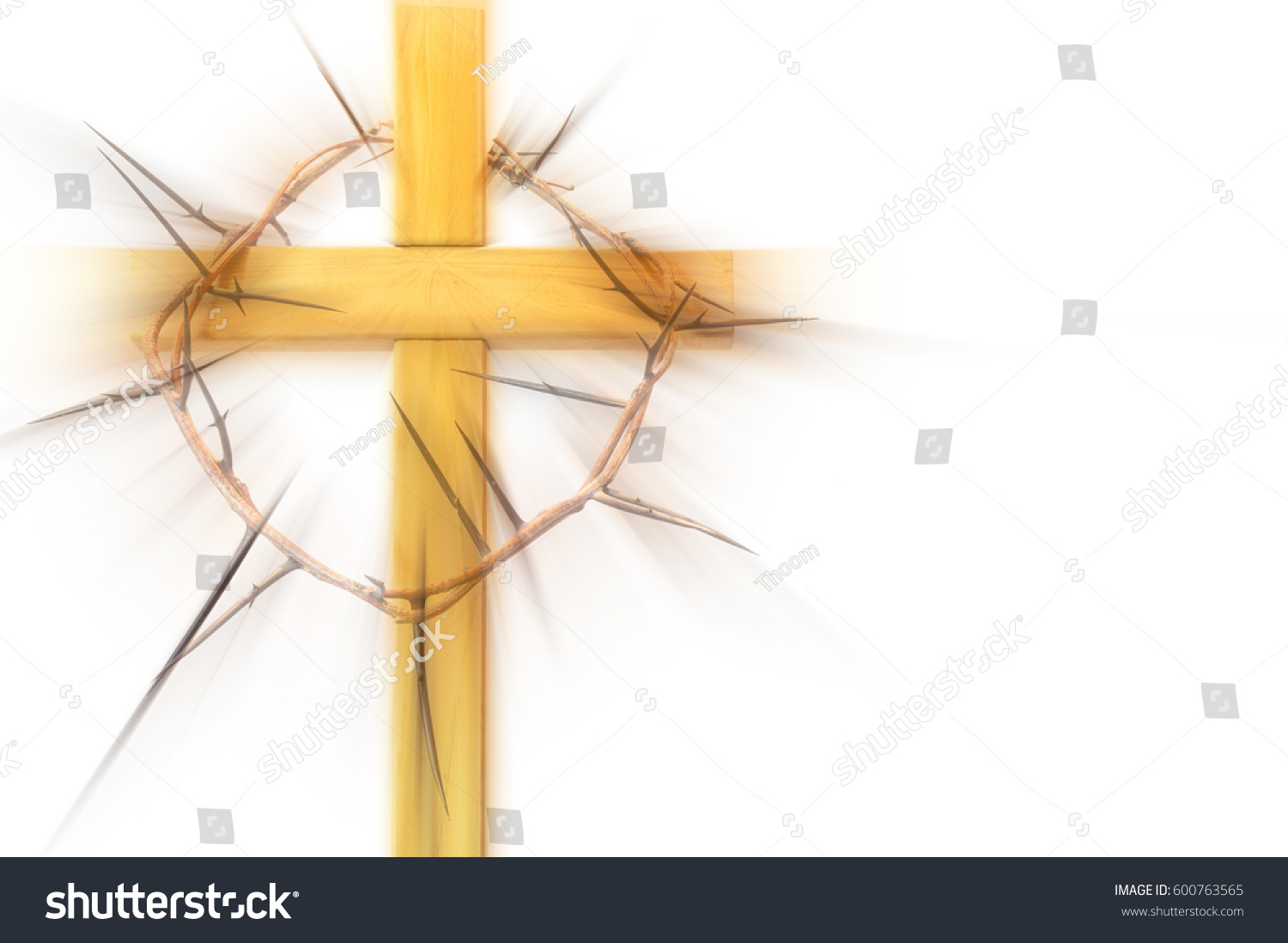 Wooden abstract cross crown thorns on stock illustration 600763565 wooden abstract cross with a crown of thorns on a white background lent easter biocorpaavc