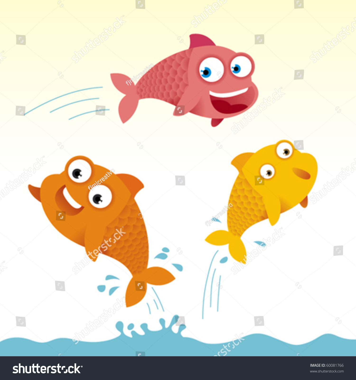 Cartoon fish jumping out of water clipart - photo#23