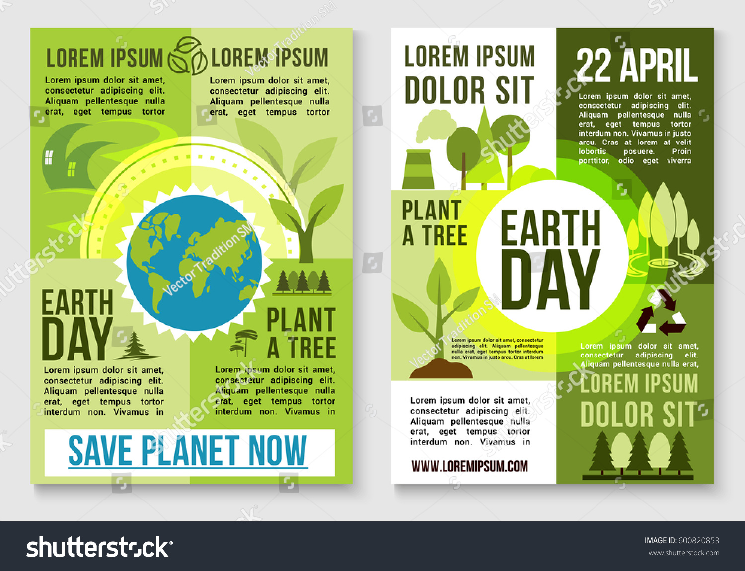 Poster design on save earth - Save Earth And Plant Trees Design For 22 April Earth Day Event Nature Environment Conservation