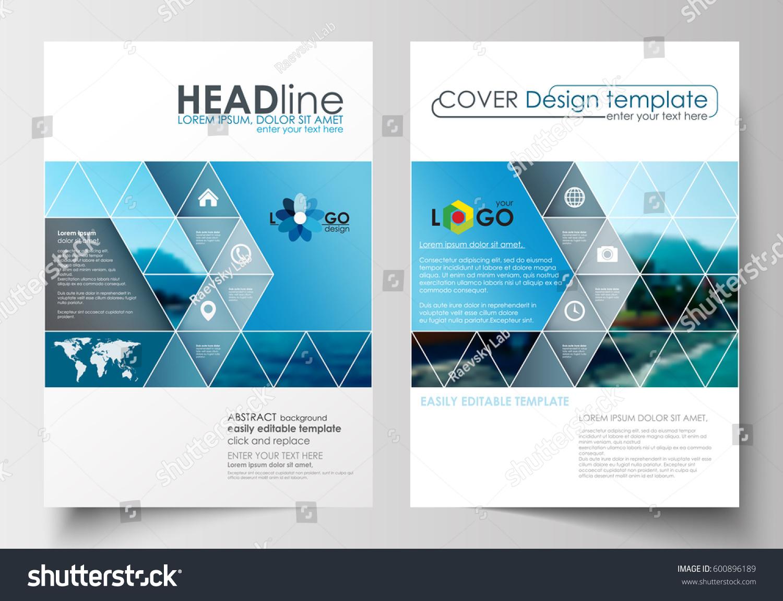 Business Templates Brochure Magazine Flyer Booklet Stock Vector