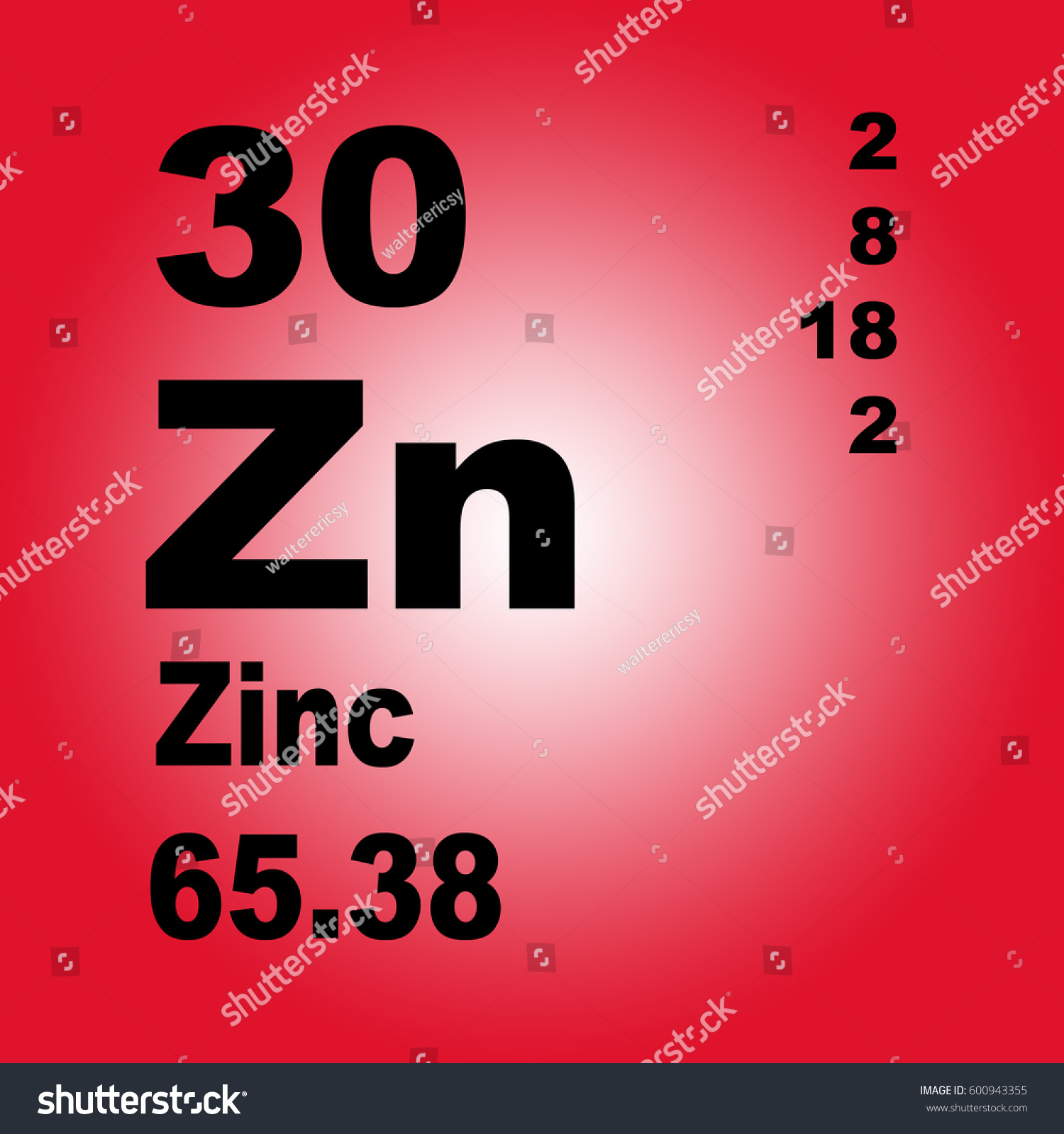 Zinc periodic table elements stock illustration 600943355 zinc periodic table of elements gamestrikefo Image collections