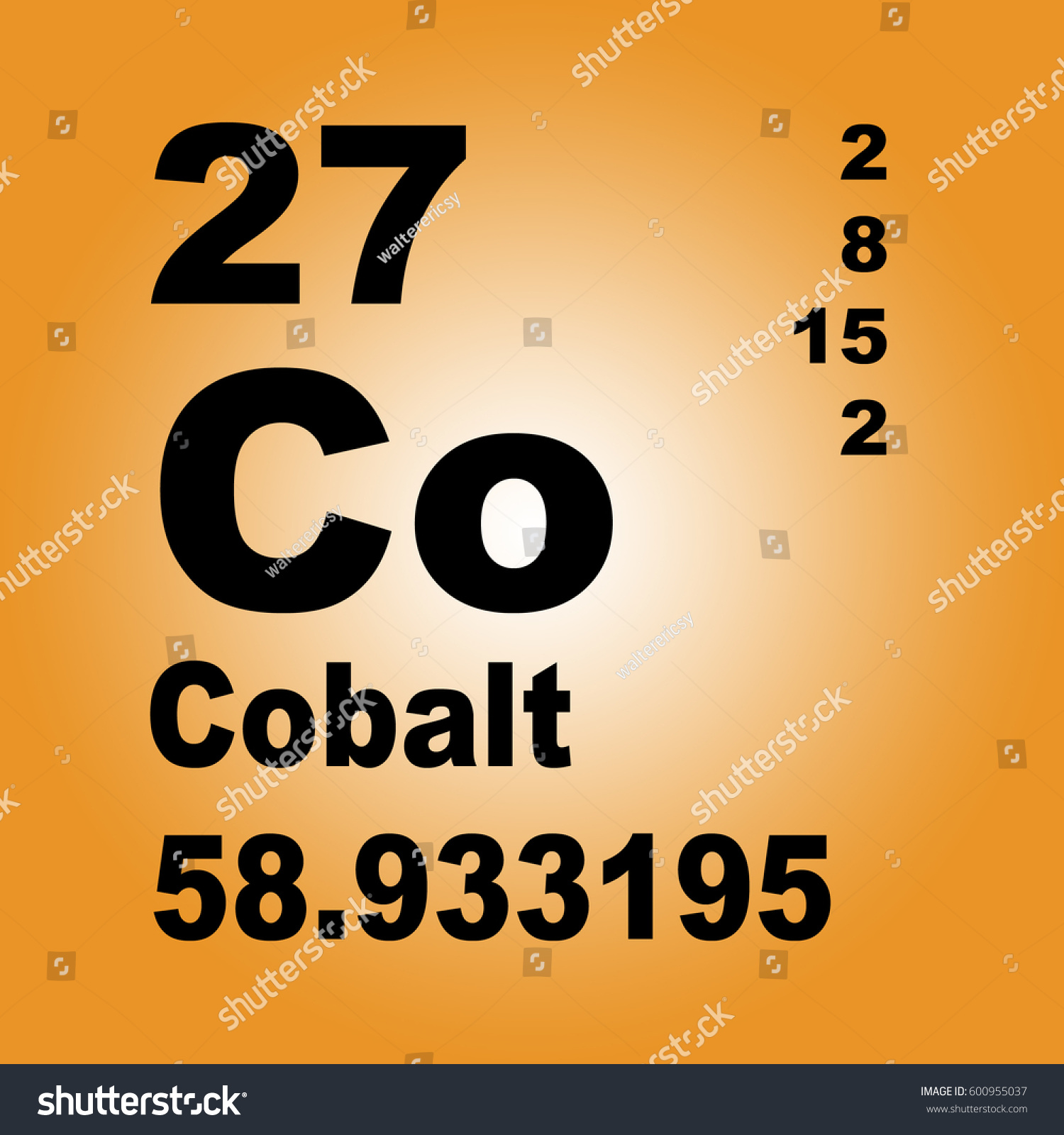 Cobalt periodic table elements stock illustration 600955037 cobalt periodic table of elements gamestrikefo Gallery