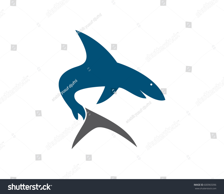 Shark Logo Template Stock Vector 600965096 - Shutterstock