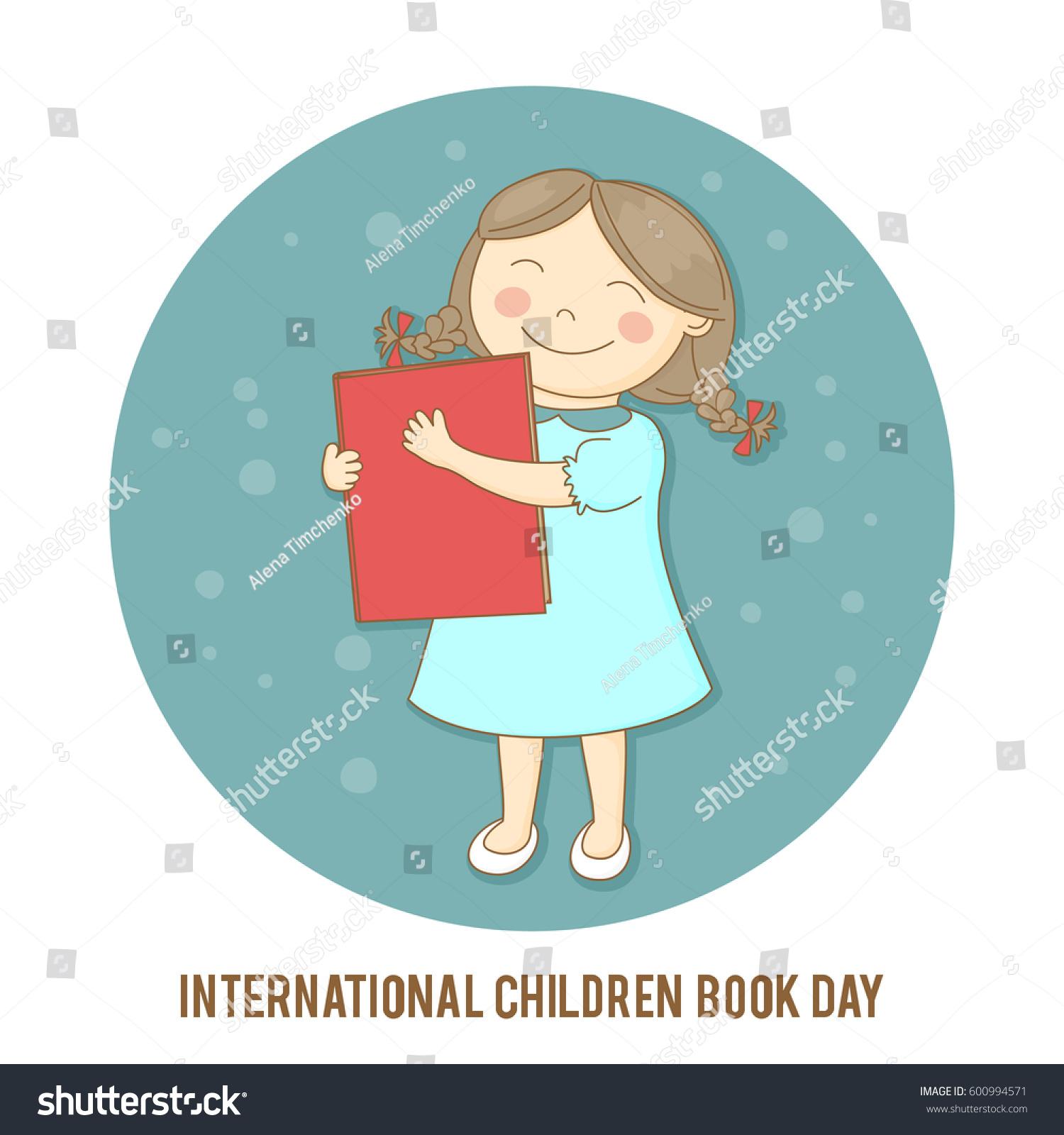 International Children Book Day Vector Illustration Stock ...