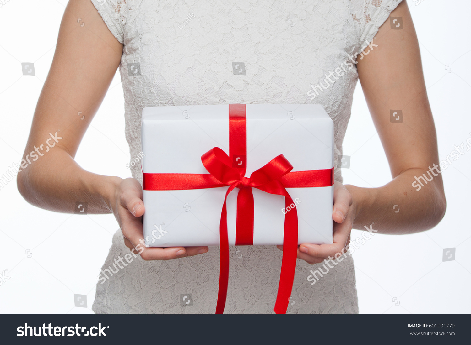 Female Hands Holding Beautiful Small Gift Stock Photo ...