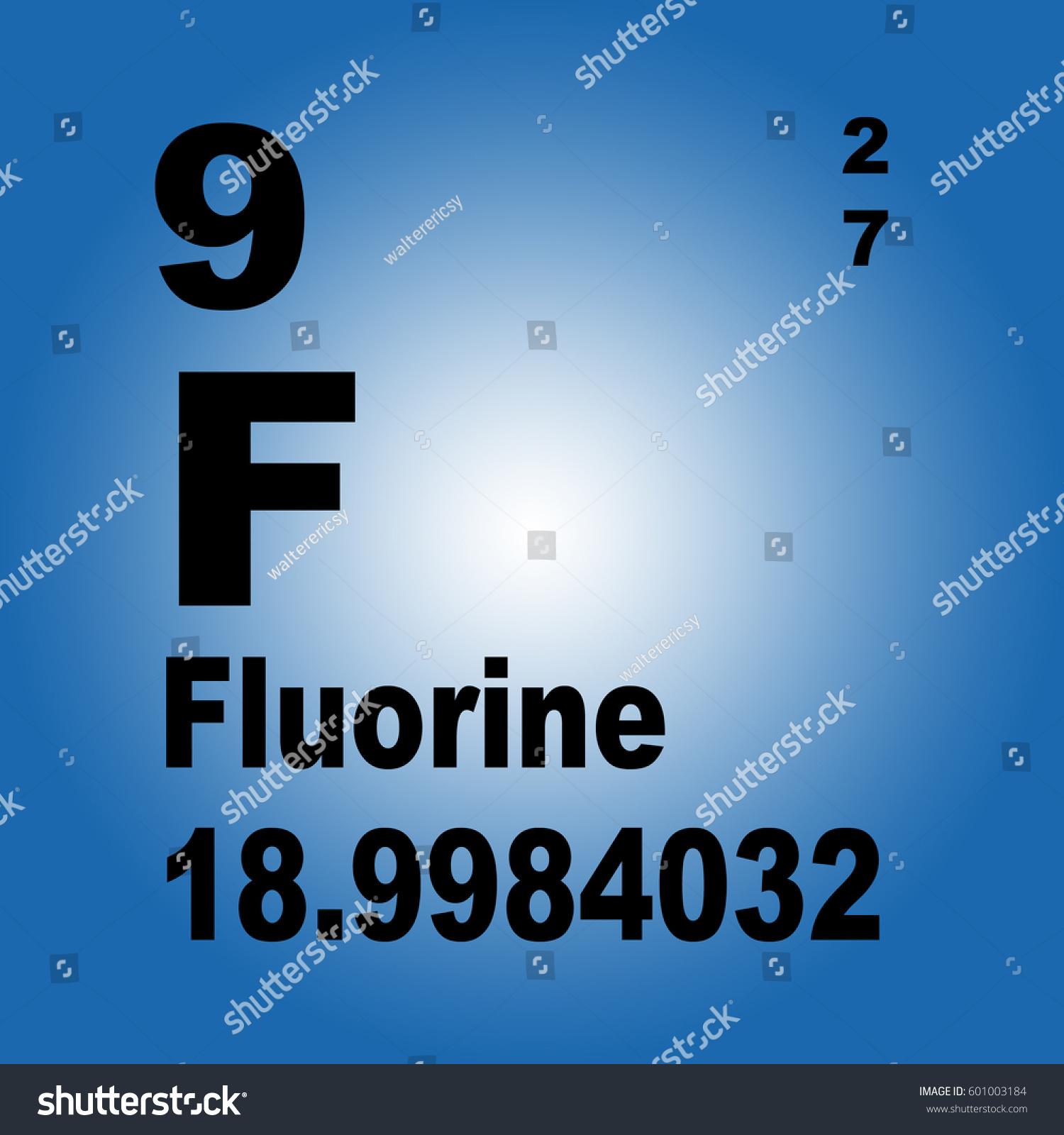 Fluorine periodic table elements stock illustration 601003184 fluorine periodic table of elements gamestrikefo Gallery