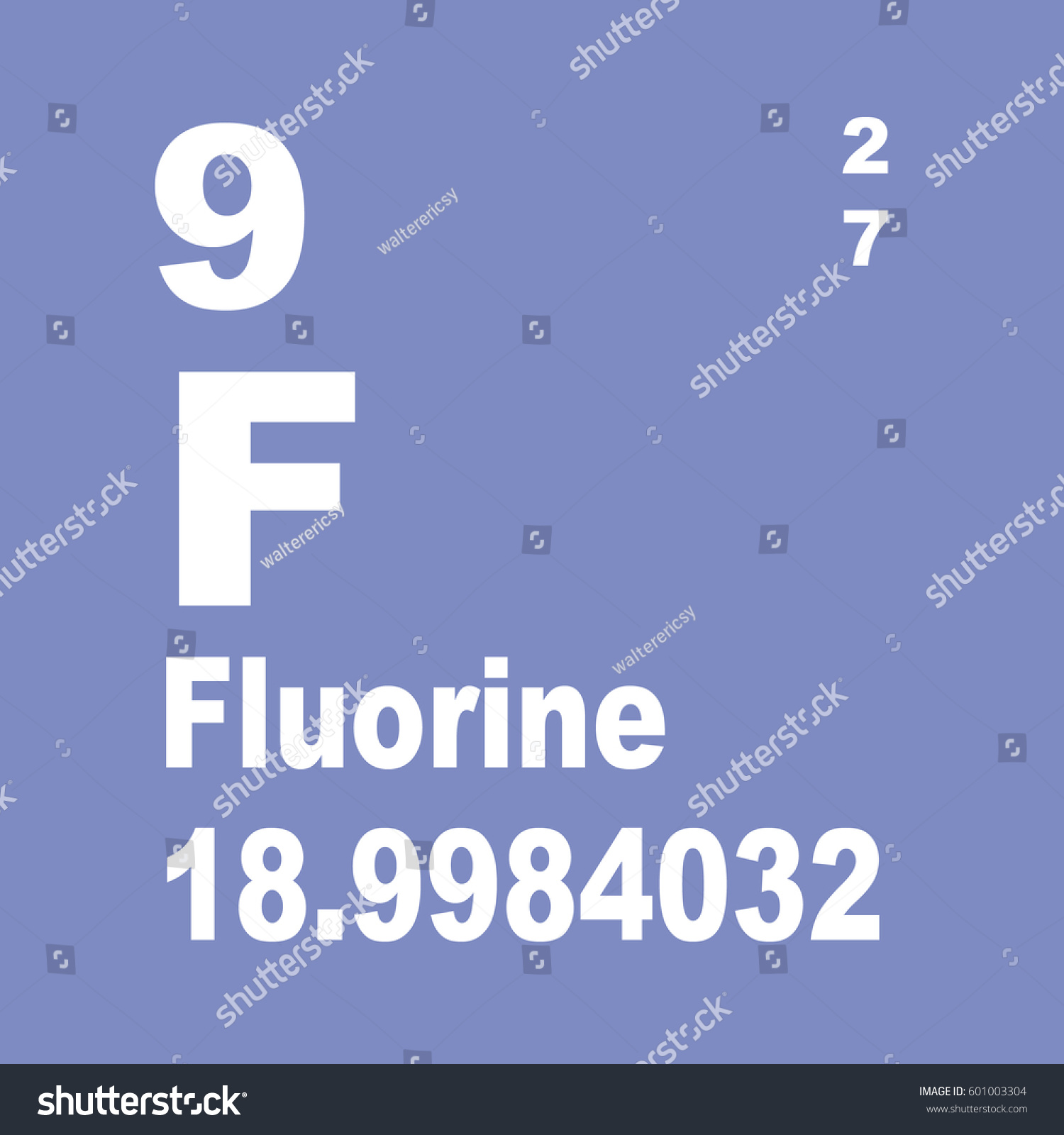 Fluorine periodic table elements stock illustration 601003304 fluorine periodic table of elements gamestrikefo Choice Image