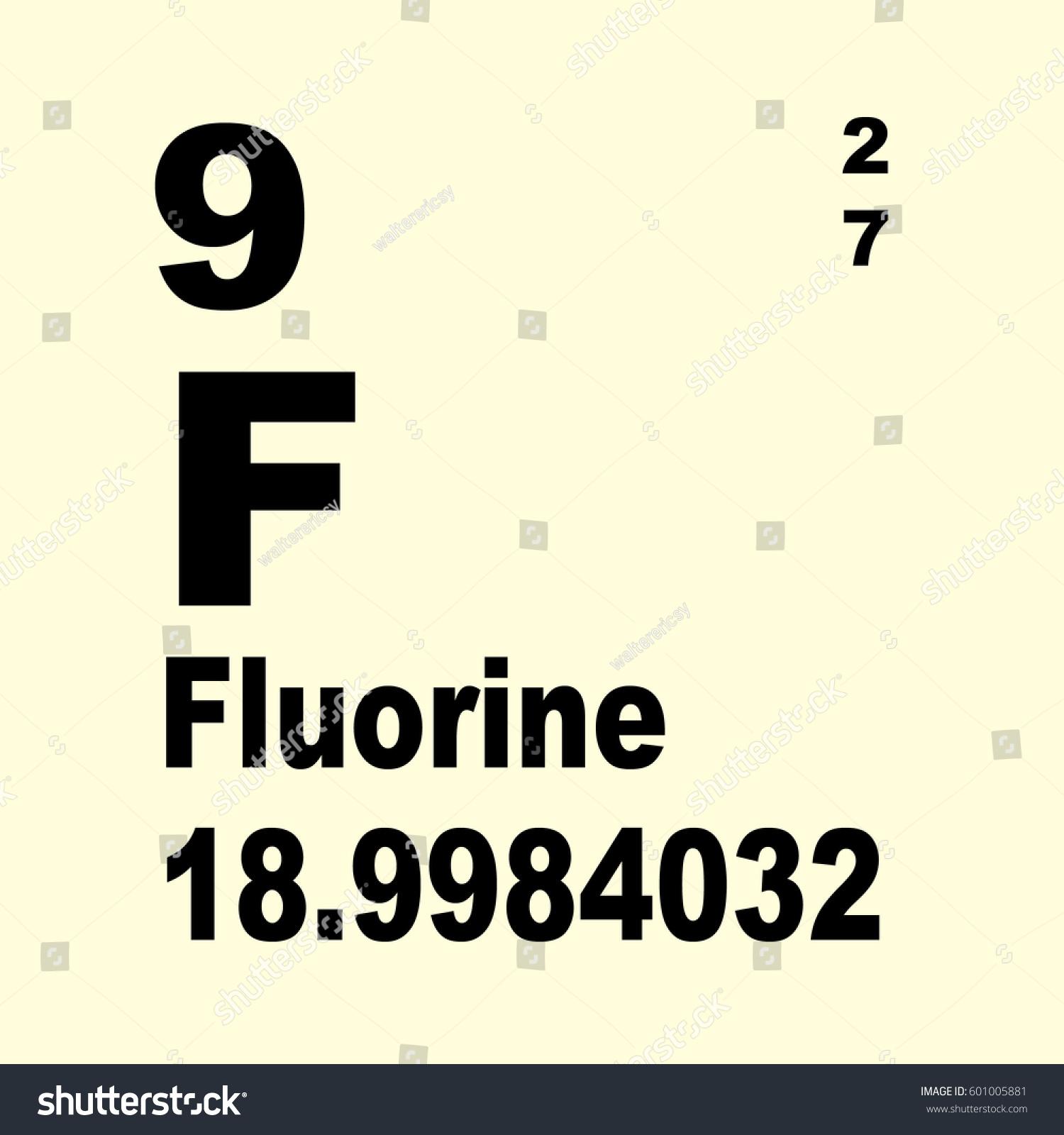 Fluorine periodic table elements stock illustration 601005881 fluorine periodic table of elements gamestrikefo Gallery