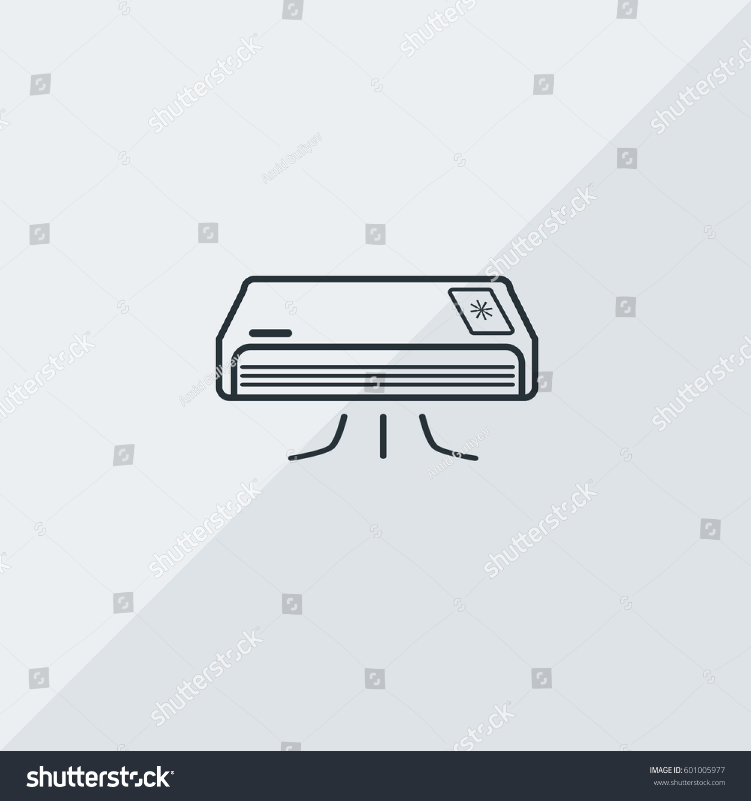 Air Conditioning Vector Icon Climate Regulator Stock Vector Royalty