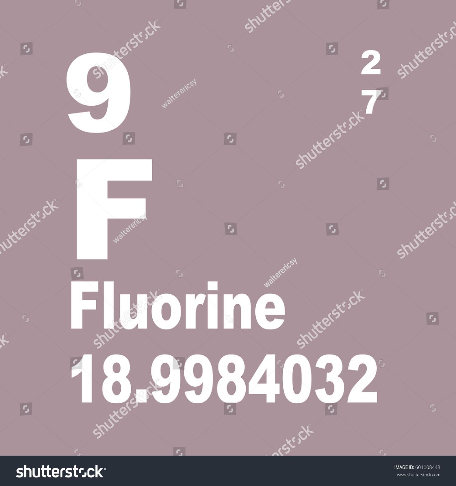 Fluorine periodic table elements stock illustration 601008443 fluorine periodic table of elements gamestrikefo Gallery