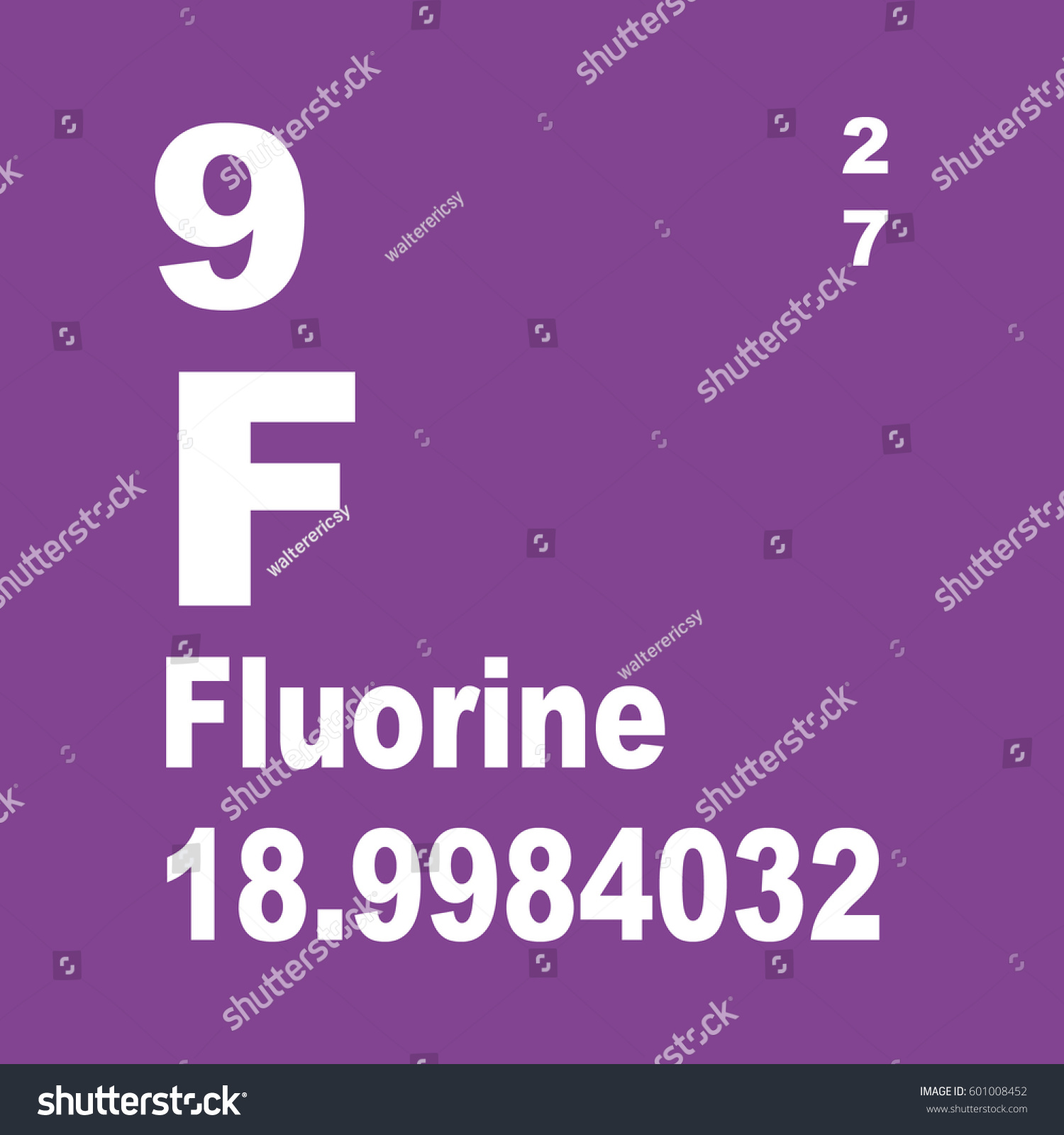 Fluorine periodic table elements stock illustration 601008452 fluorine periodic table of elements gamestrikefo Gallery