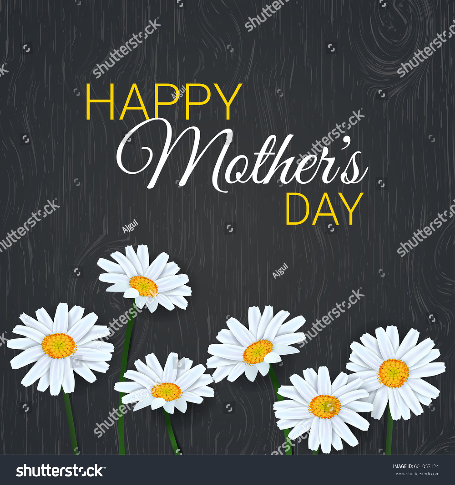 mothers day background beautiful daisy flowers stock photo (photo