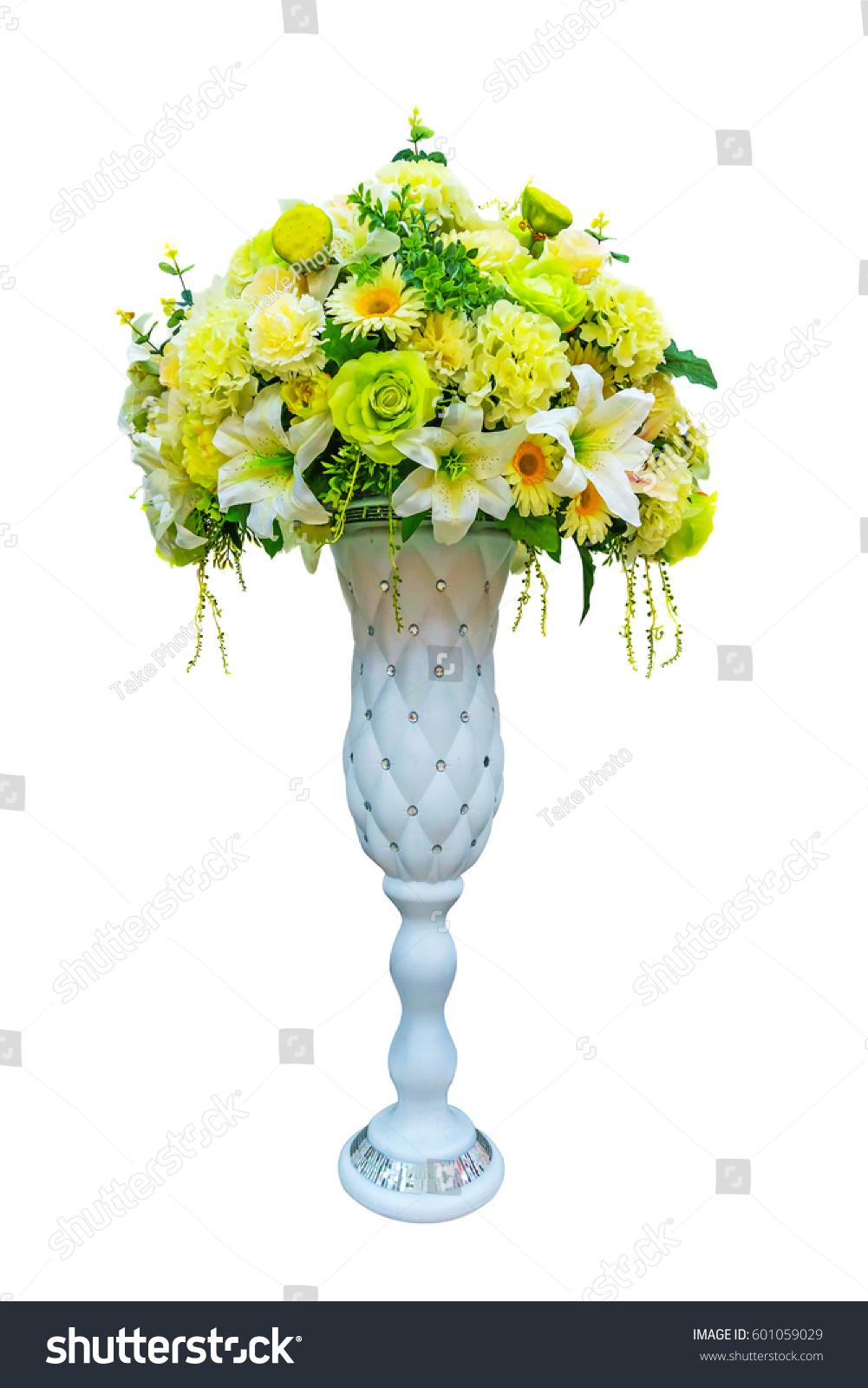 Decoration Artificial Plastic Flower Big Vase Stock Photo Edit Now 601059029