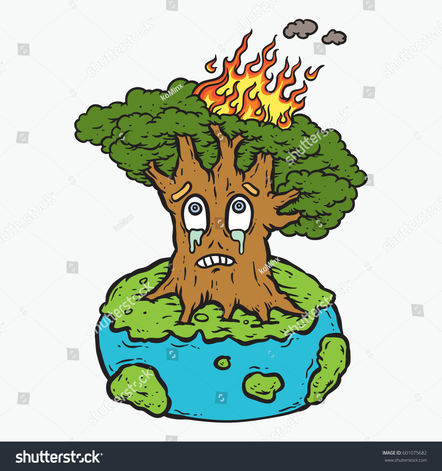 Big Tree On Fire Cartoon Drawing Stock Vector Royalty Free 601075682 Pluto's christmas tree is a 1952 mickey mouse cartoon in which pluto and mickey cut down a christmas tree that chip n' dale live in. https www shutterstock com image vector big tree on fire cartoon drawing 601075682